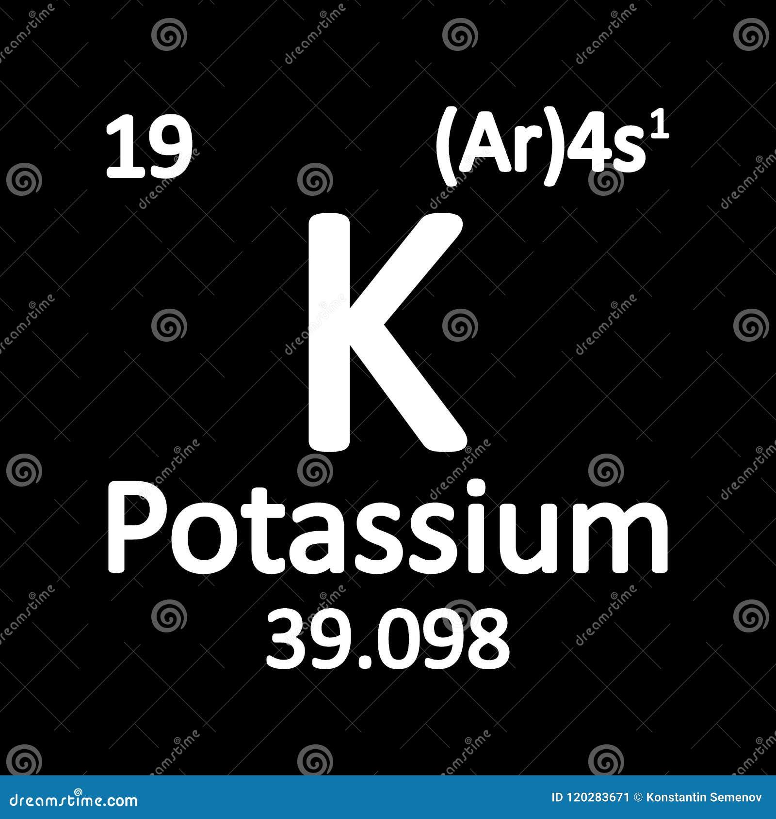 Periodic table element potassium icon stock illustration download comp urtaz Images