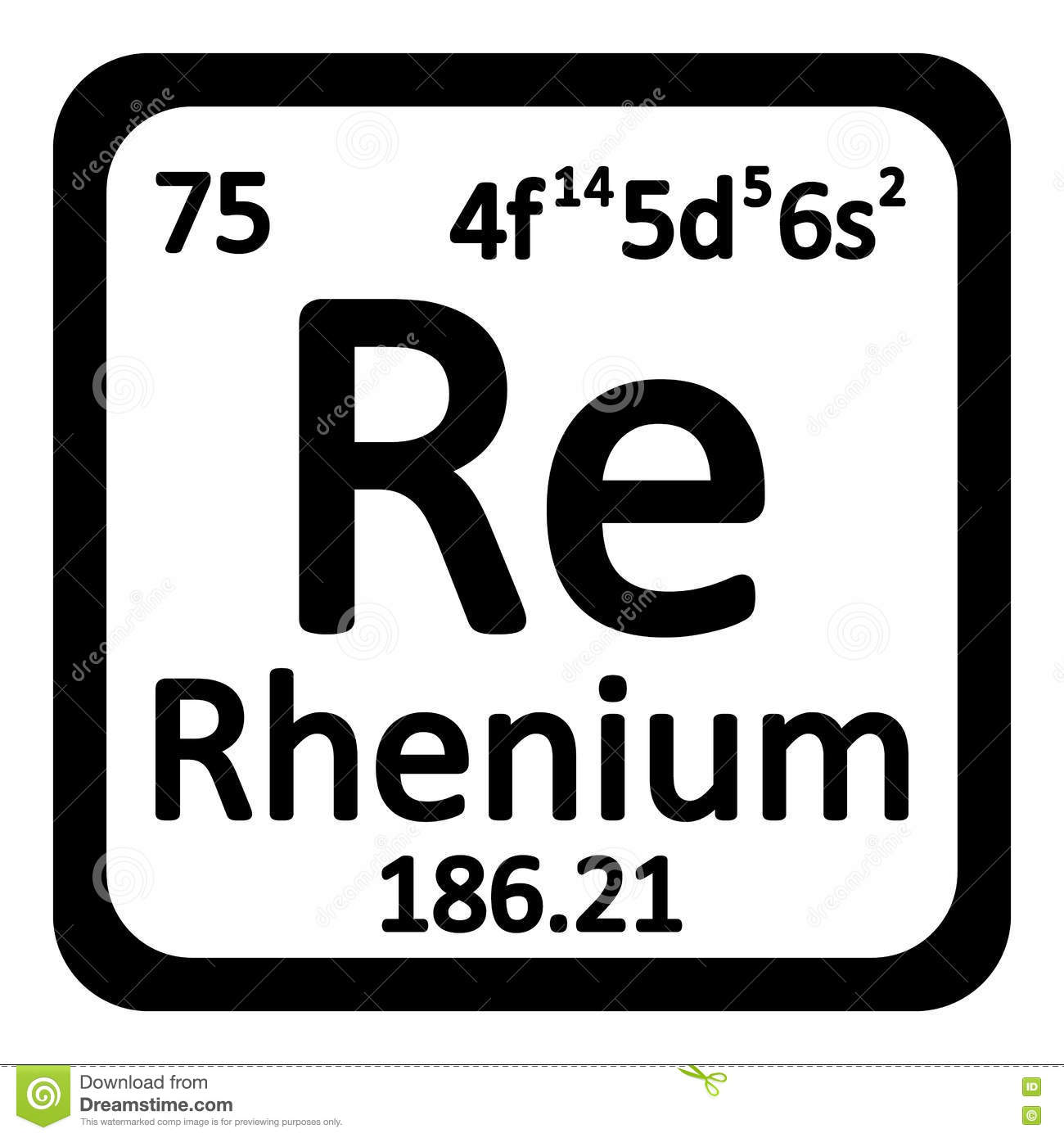 Periodic table squares gallery table design ideas rhenium symbol periodic table gallery periodic table images chemical element rhenium from the periodic table stock gamestrikefo Images