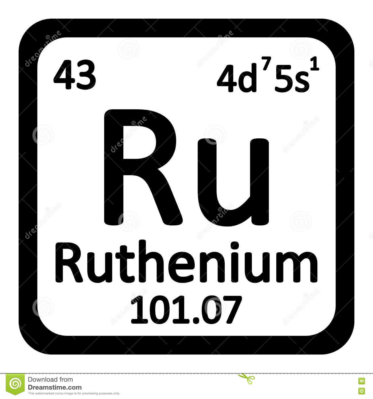 Periodic table element ruthenium icon stock illustration image royalty free illustration download periodic table element ruthenium gamestrikefo Choice Image