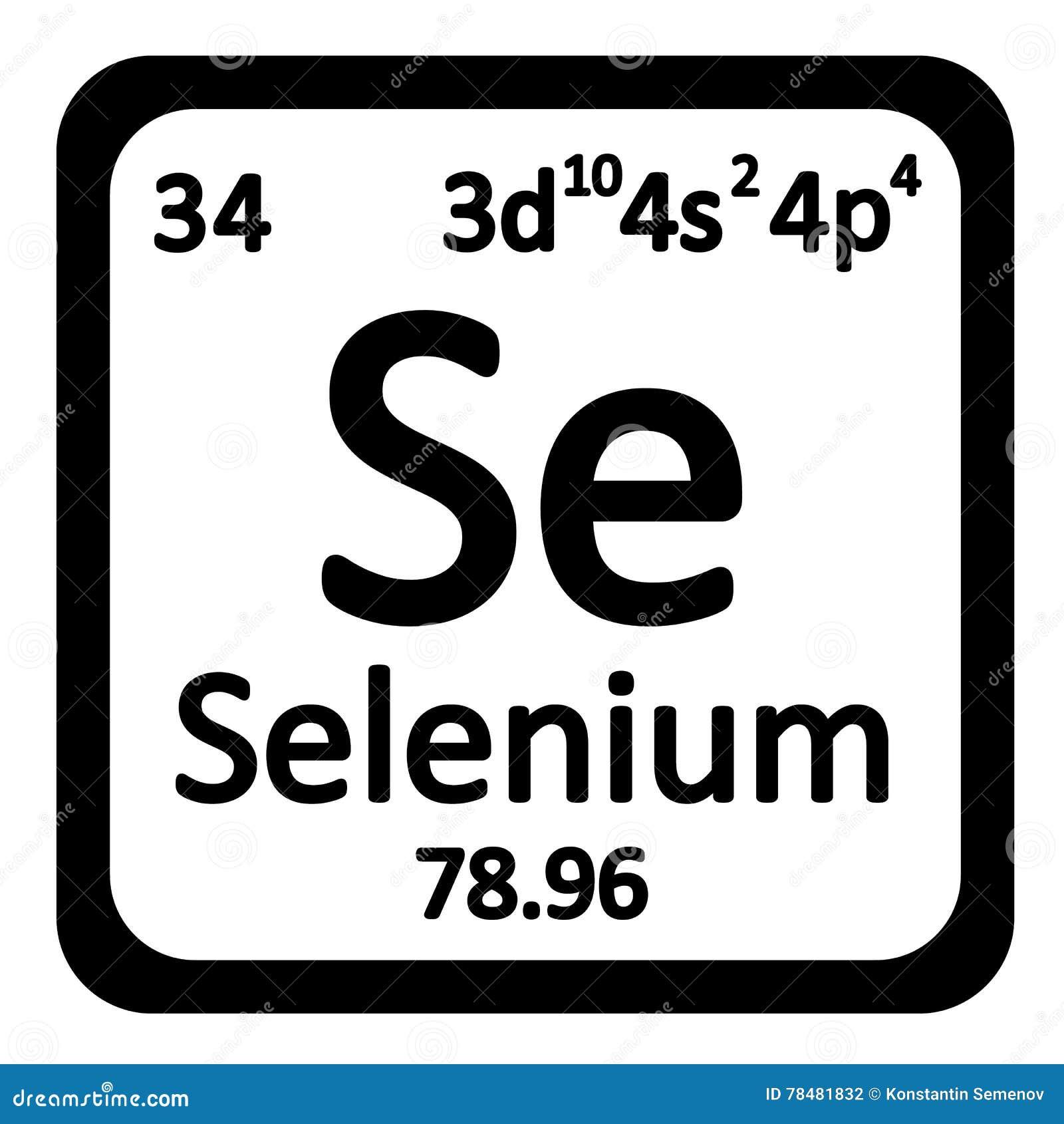 Periodic table element selenium icon stock illustration periodic table element selenium icon buycottarizona