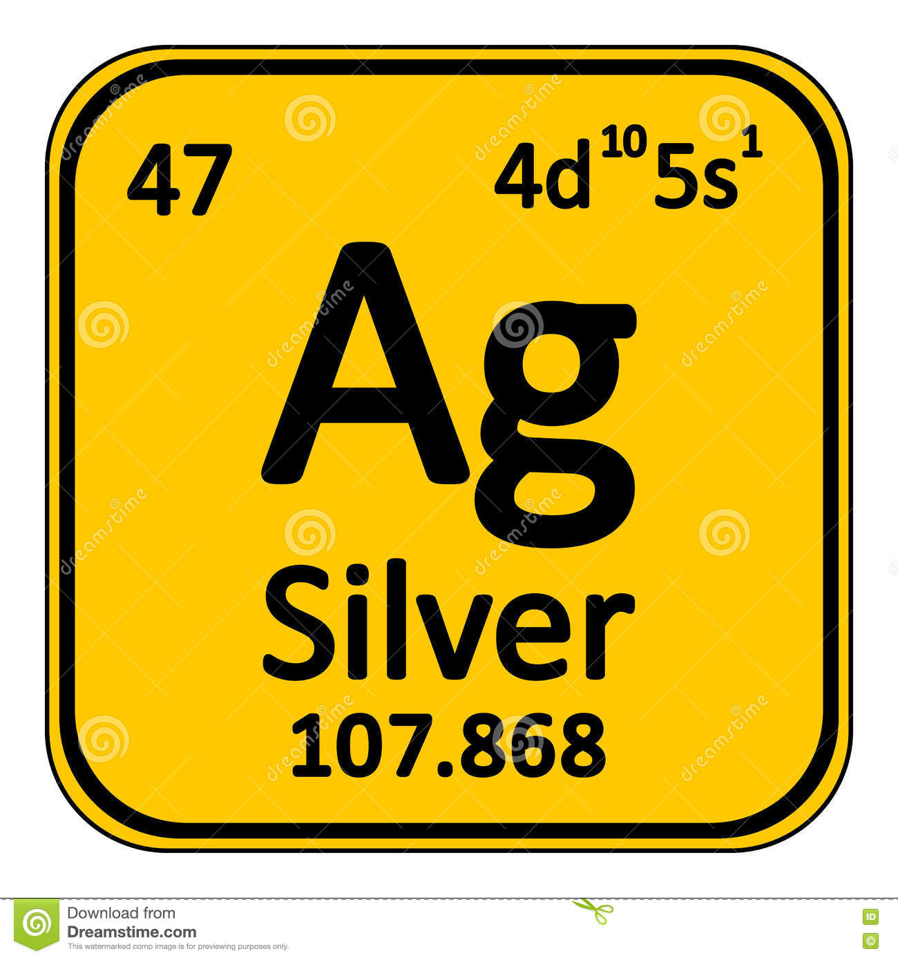 Periodic table element silver icon stock illustration image periodic table element silver icon gamestrikefo Image collections