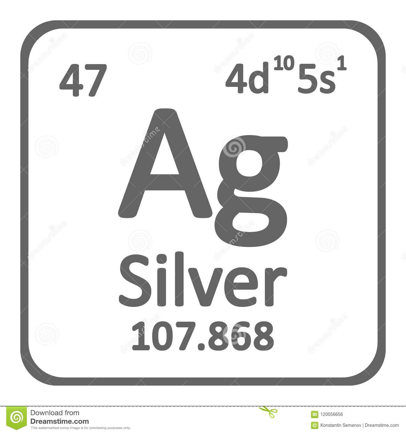 Periodic table element silver icon stock illustration download periodic table element silver icon stock illustration illustration of grey name urtaz Gallery