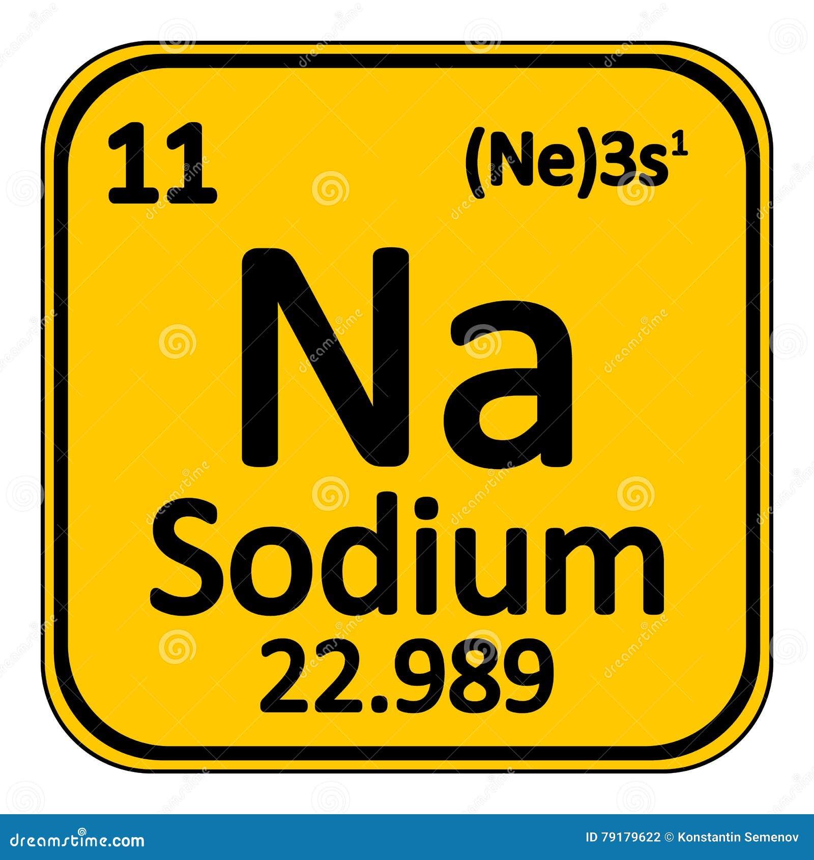 Periodic Table Element Sodium Icon Stock Illustration