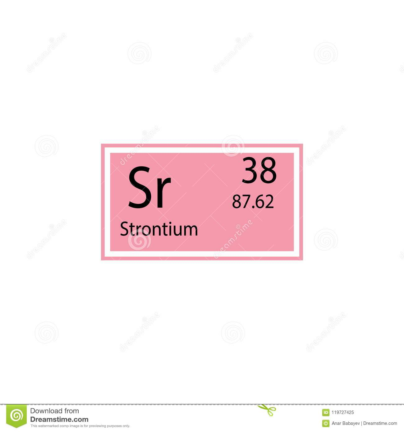 Periodic Table Element Strontium Icon Element Of Chemical Sign Icon