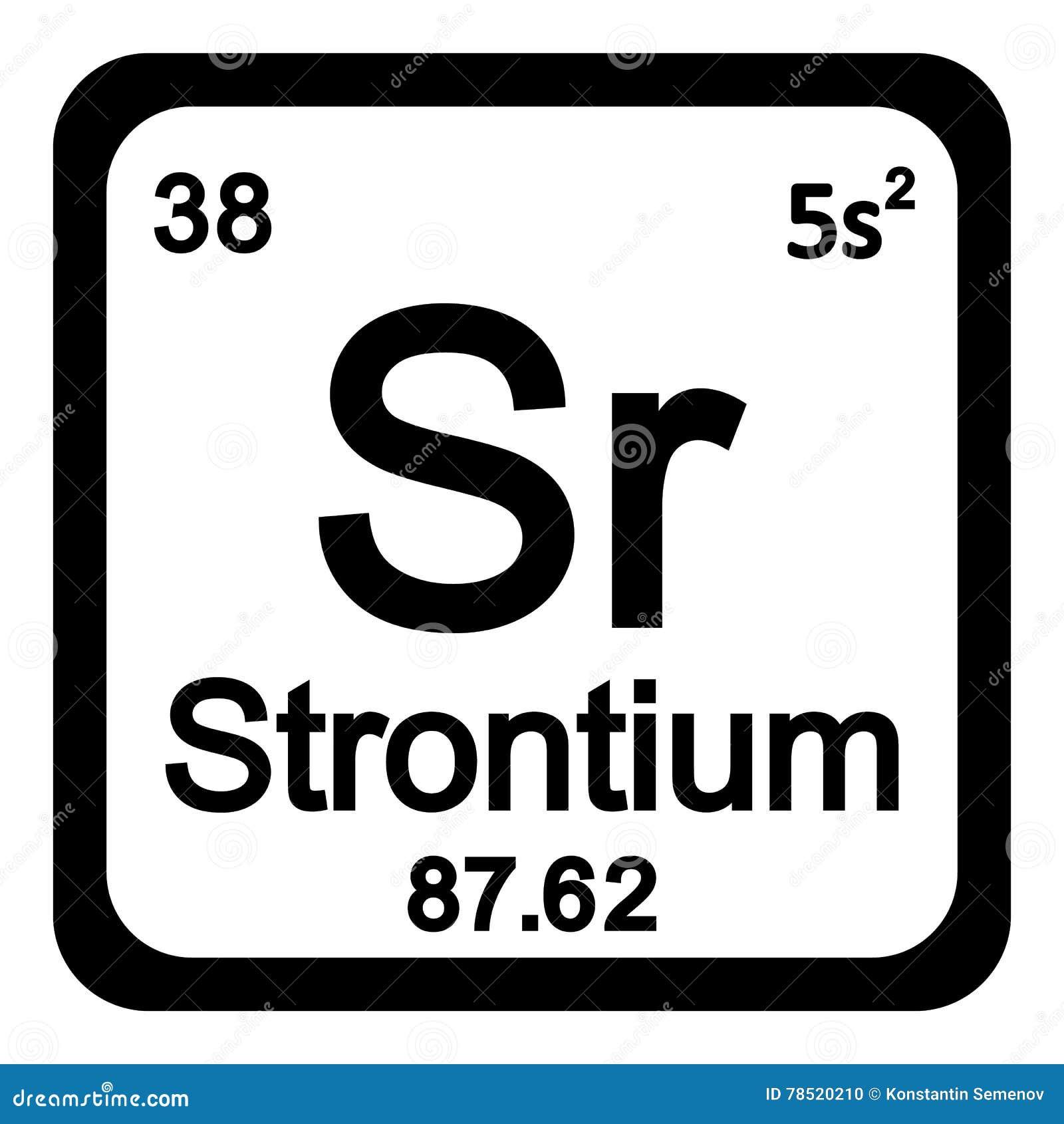 Periodic table element strontium icon stock illustration periodic table element strontium icon biocorpaavc