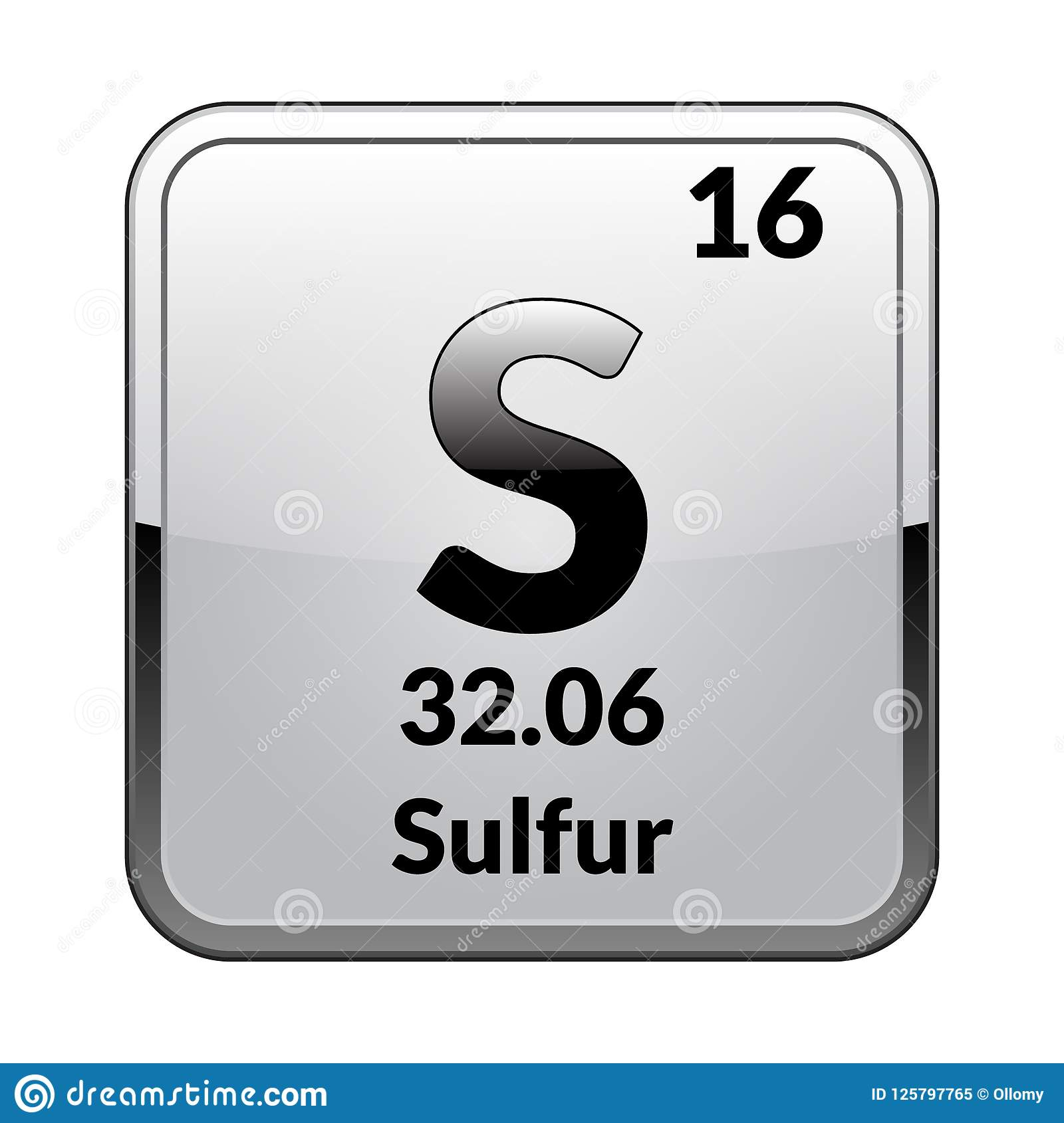 The Periodic Table Element Sulfurctor Stock Vector
