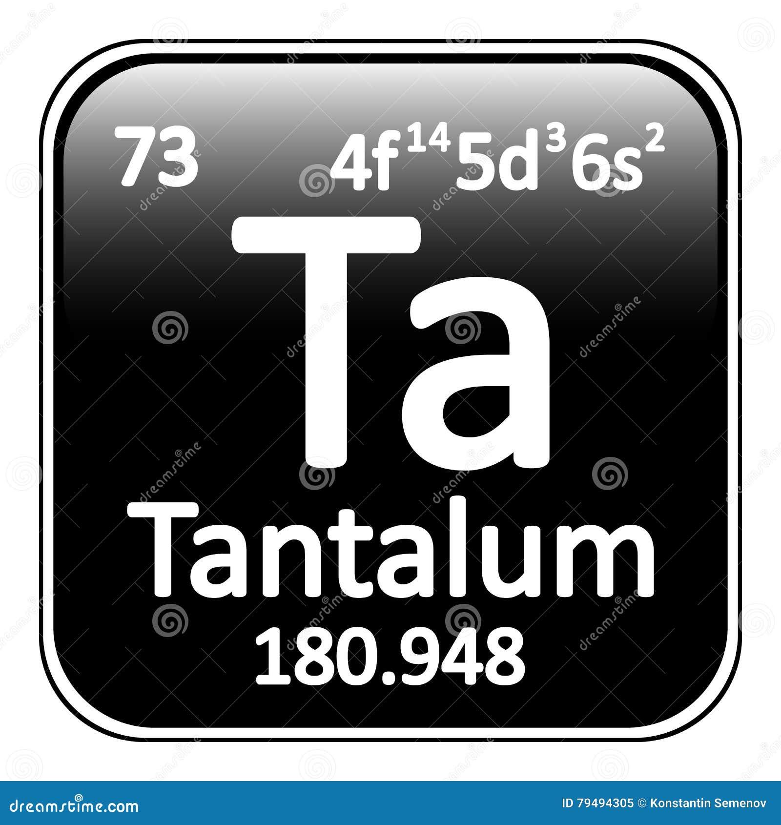 Periodic Table Element Tantalum Icon  Stock Illustration