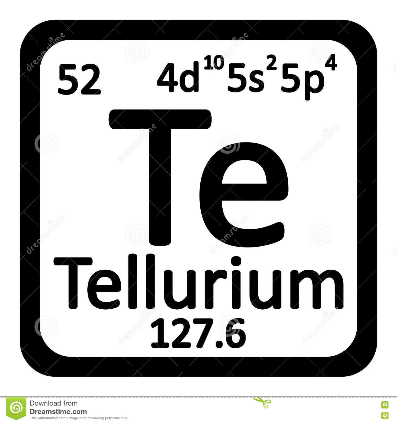 Periodic table element tellurium icon stock illustration image periodic table element tellurium icon gamestrikefo Choice Image