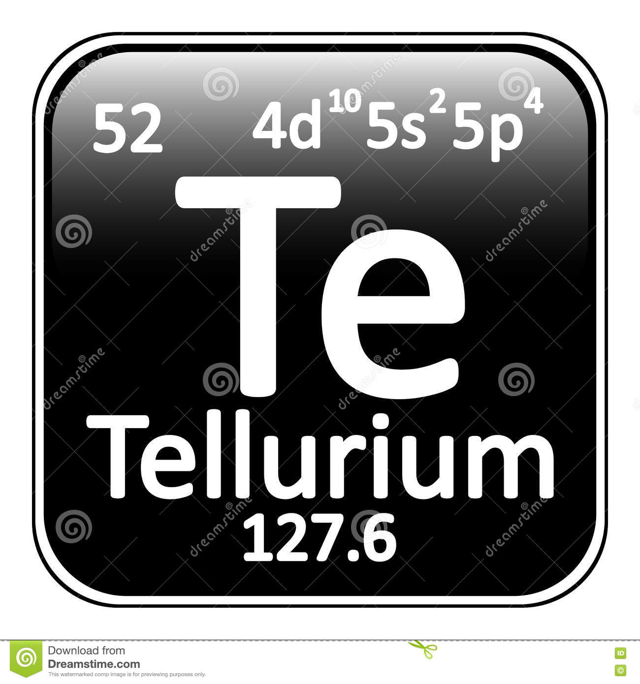 Periodic table element tellurium icon stock illustration image royalty free illustration download periodic table element tellurium gamestrikefo Choice Image