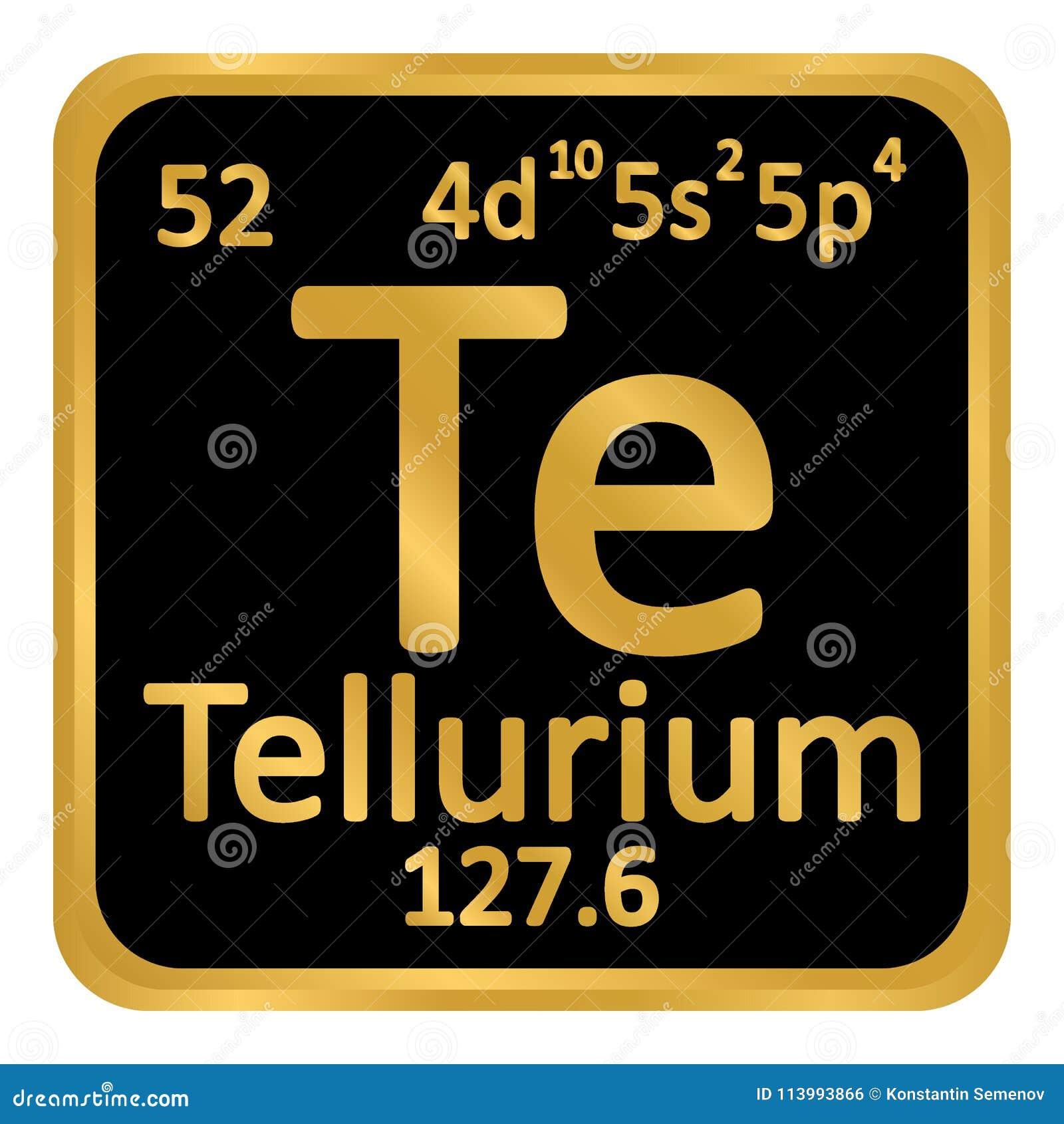 Periodic Table Element Tellurium Icon Stock Illustration