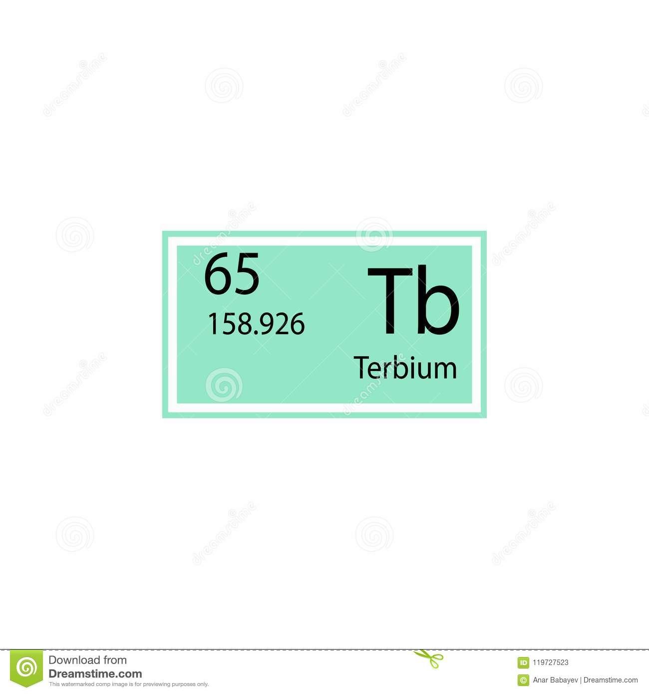 Periodic table element terbium icon element of chemical sign icon periodic table element terbium icon element of chemical sign icon premium quality graphic design icon signs and symbols collection icon for websites urtaz Images
