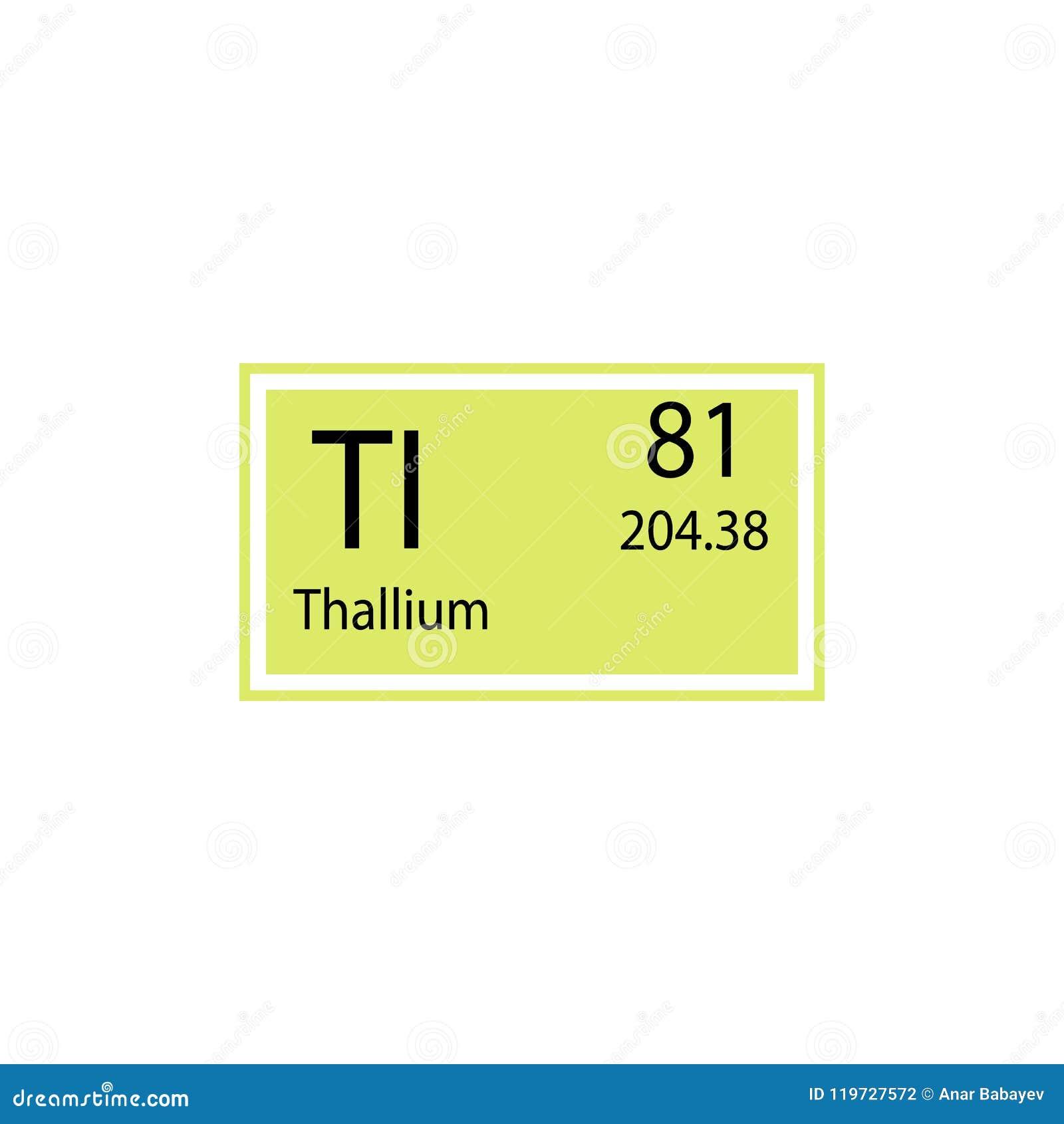 Periodic Table Element Thallium Icon Element Of Chemical Sign Icon