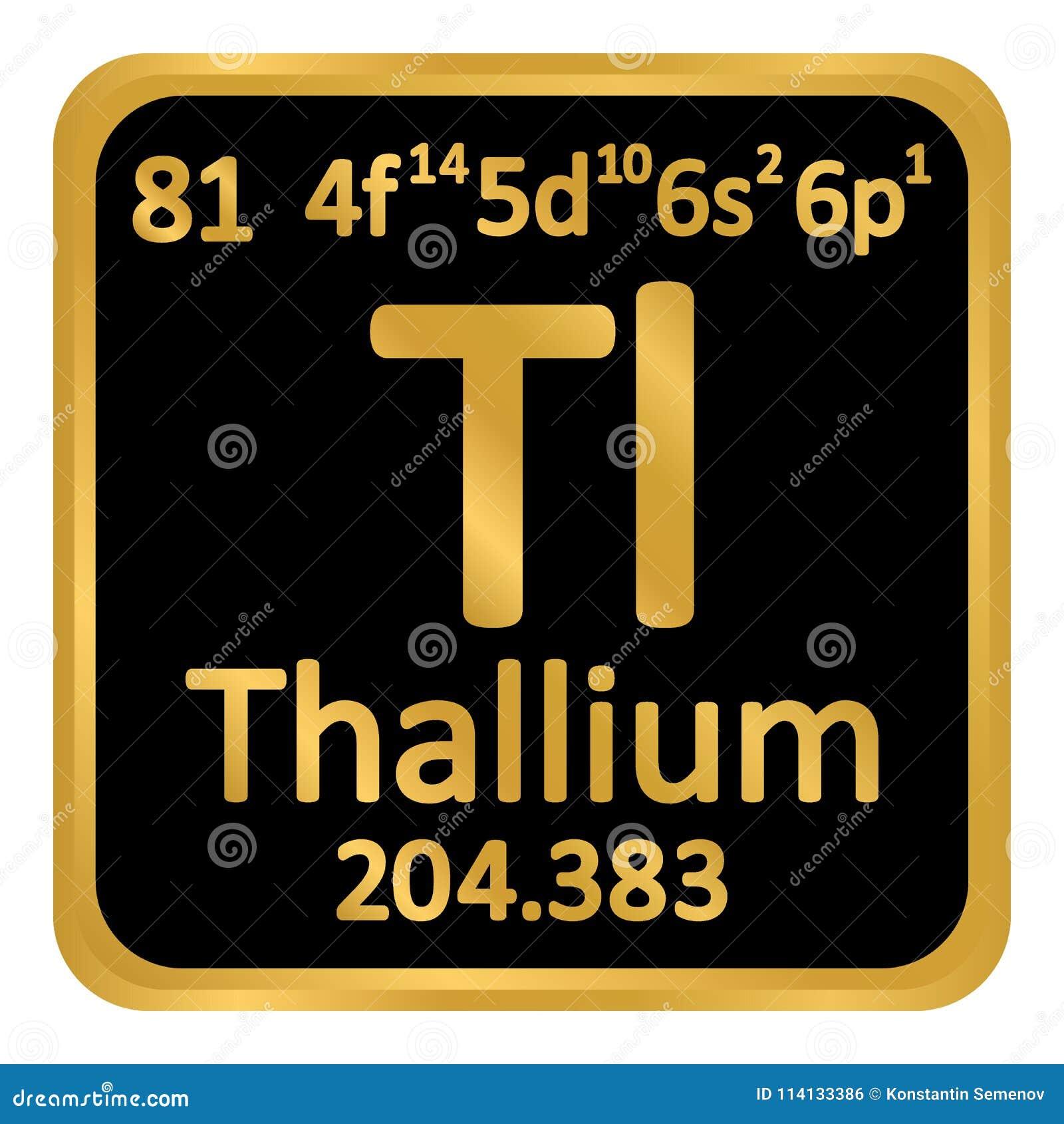Periodic Table Element Thallium Icon Stock Illustration