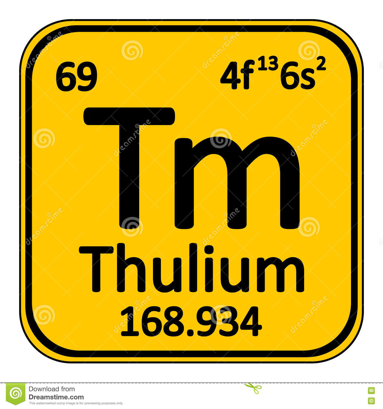 Periodic table element thulium icon stock illustration image periodic table element thulium icon gamestrikefo Gallery