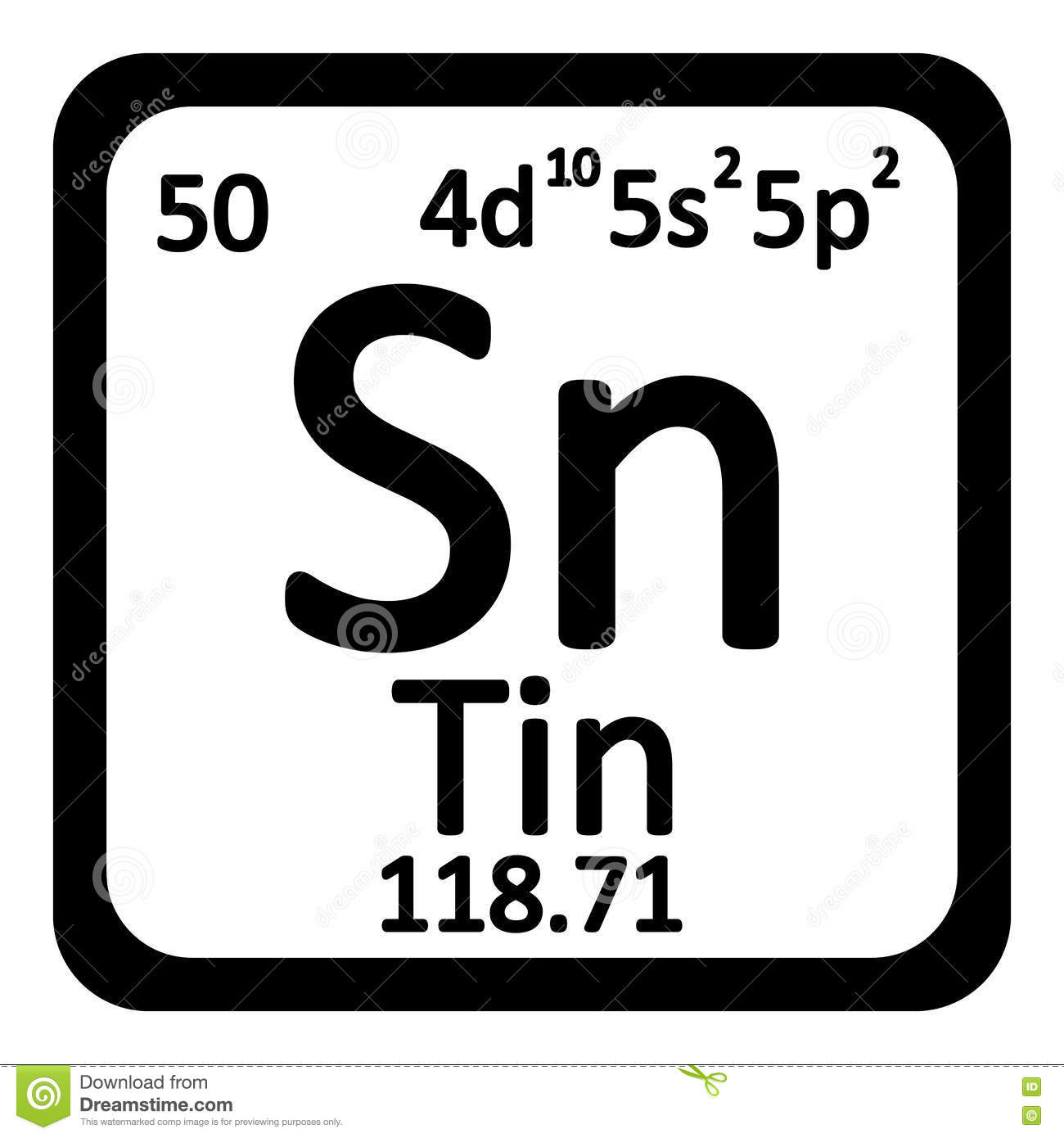 Chemical element tin from the periodic table stock illustration periodic table element tin icon royalty free stock images gamestrikefo Gallery