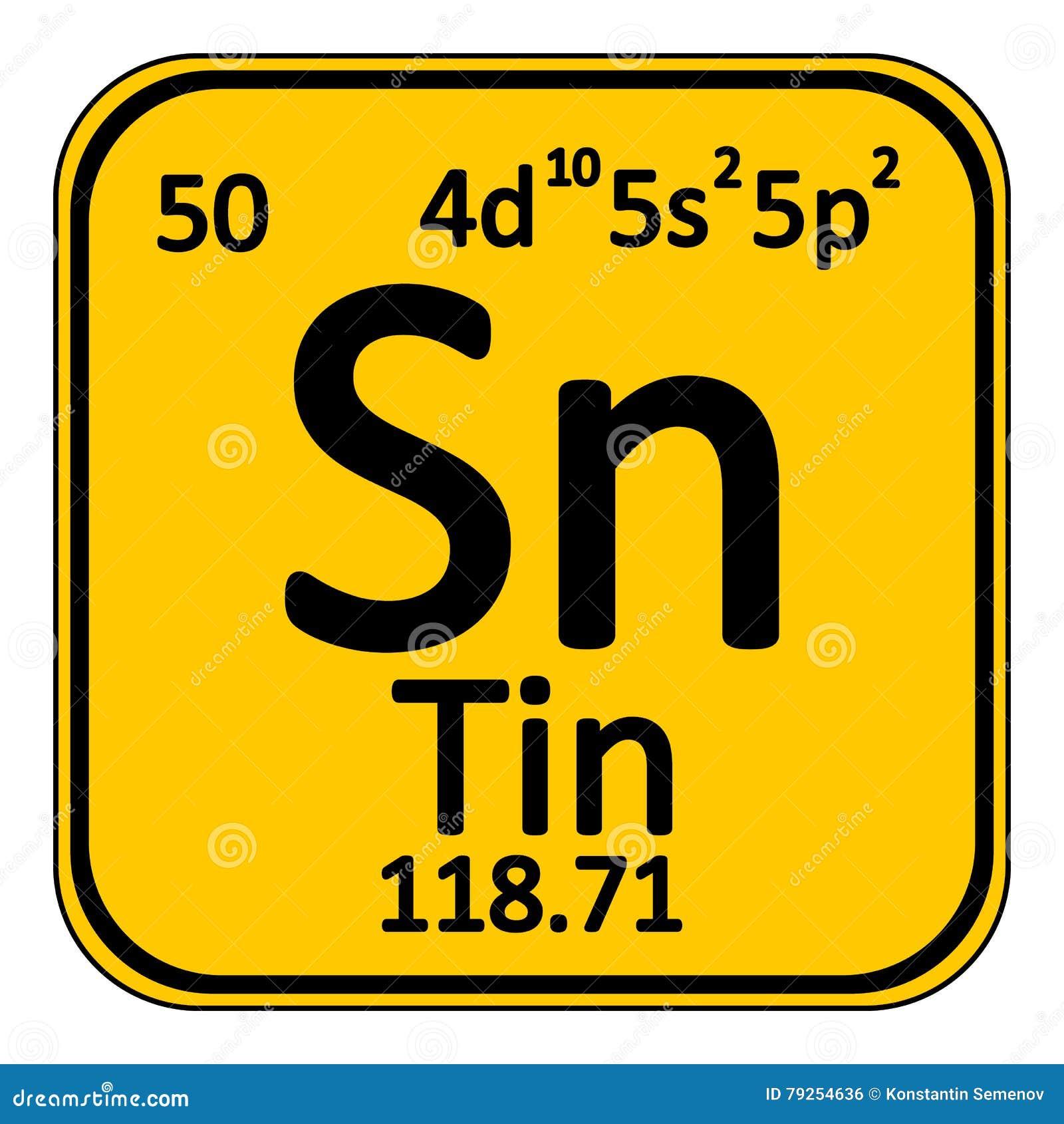 Periodic table element tin icon stock illustration illustration download comp urtaz Choice Image