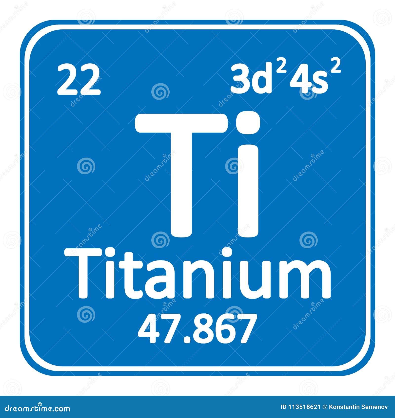 Periodic Table Element Titanium Icon Stock Illustration