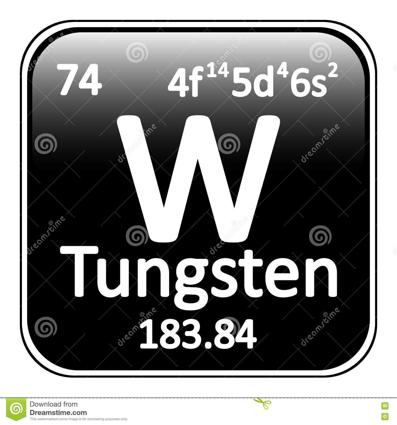 Tungsten chemical element stock vector image of electron 83099136 periodic table element tungsten icon stock photography urtaz Choice Image