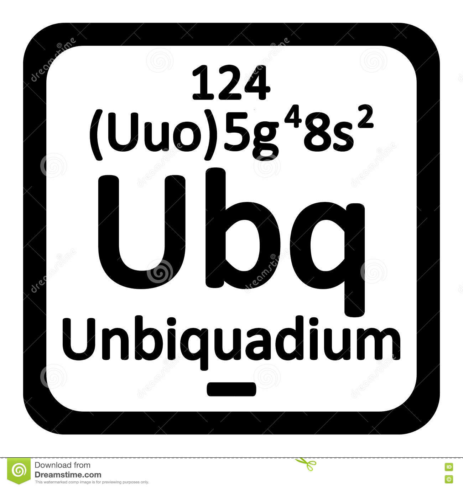 Periodic table element unbiquadium icon stock illustration royalty free illustration download periodic table gamestrikefo Choice Image