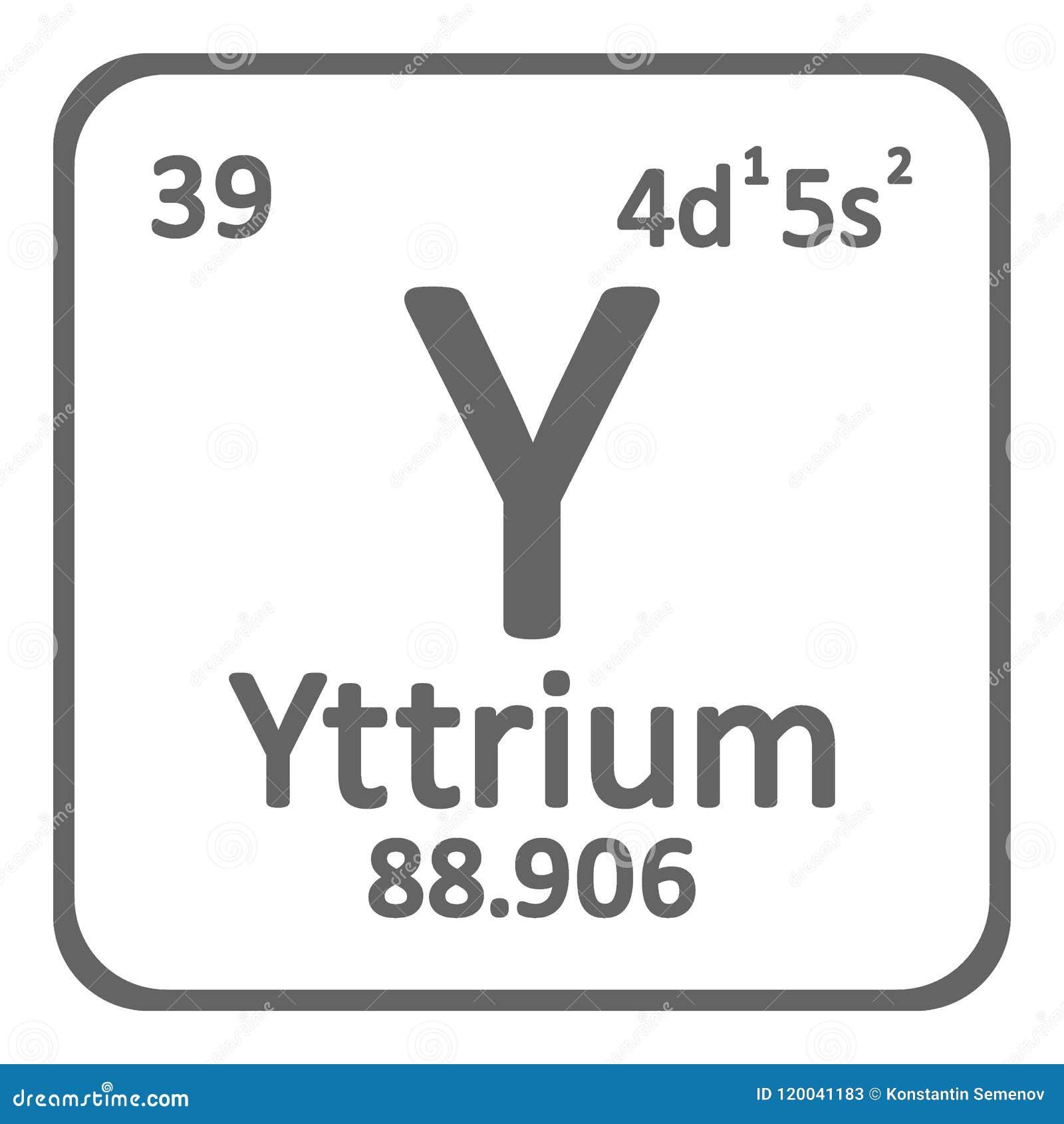 Periodic Table Element Yttrium Icon Stock Illustration