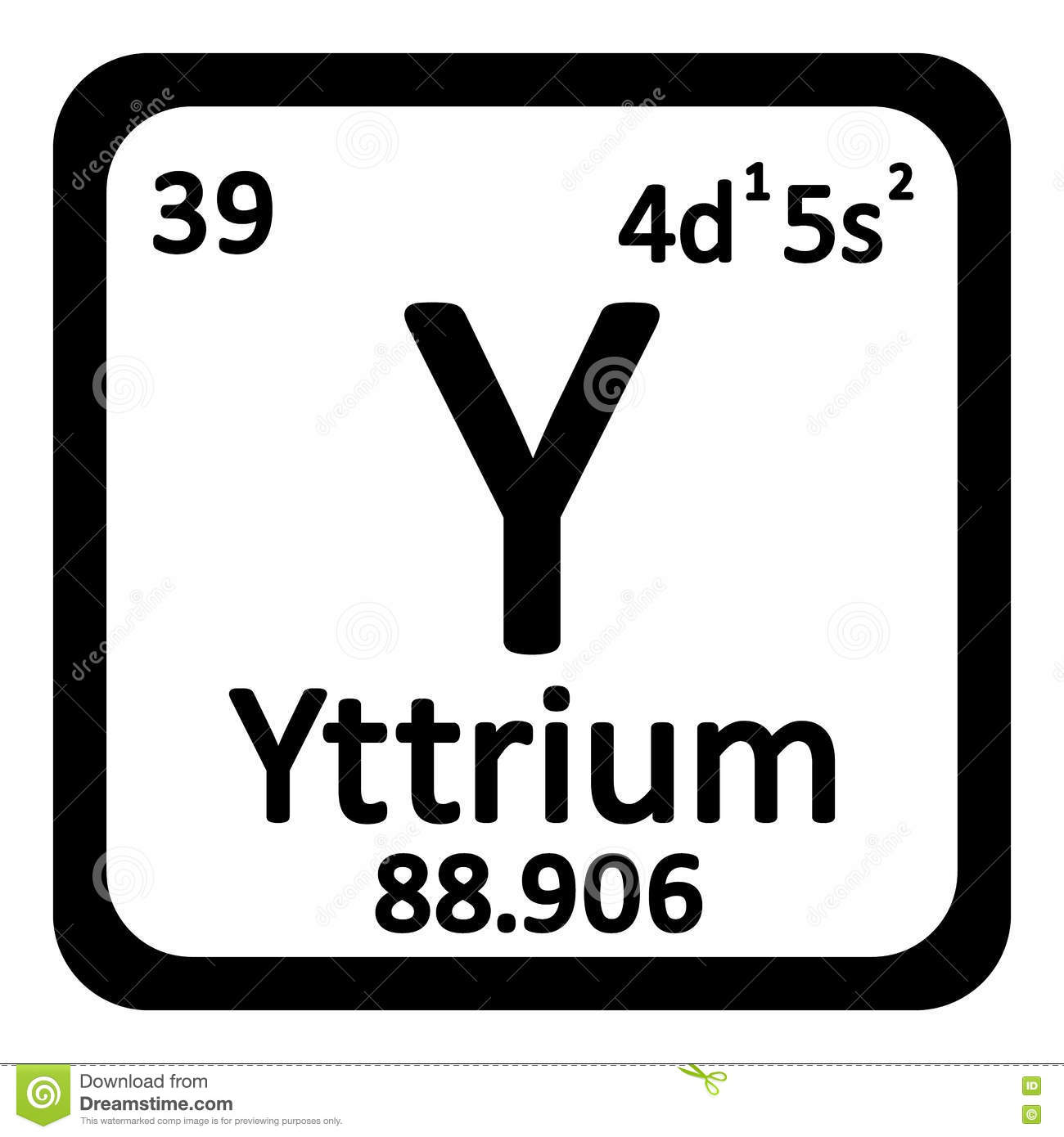 Yttrium y chemical element periodic table stock illustration periodic table element yttrium icon royalty free stock photos gamestrikefo Choice Image
