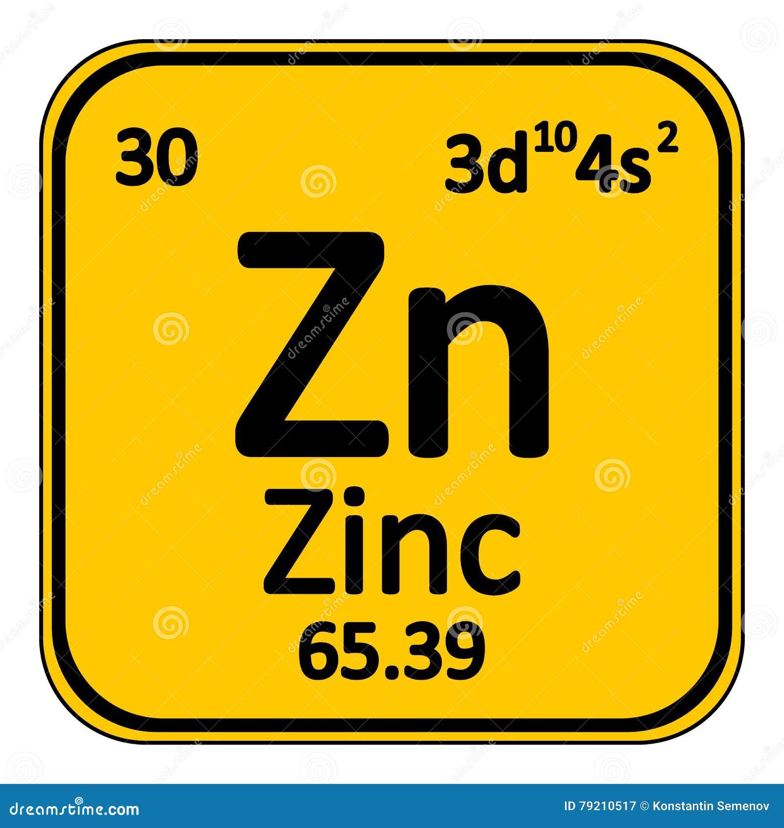 Periodic table element zinc icon stock illustration illustration periodic table element zinc icon buycottarizona Gallery