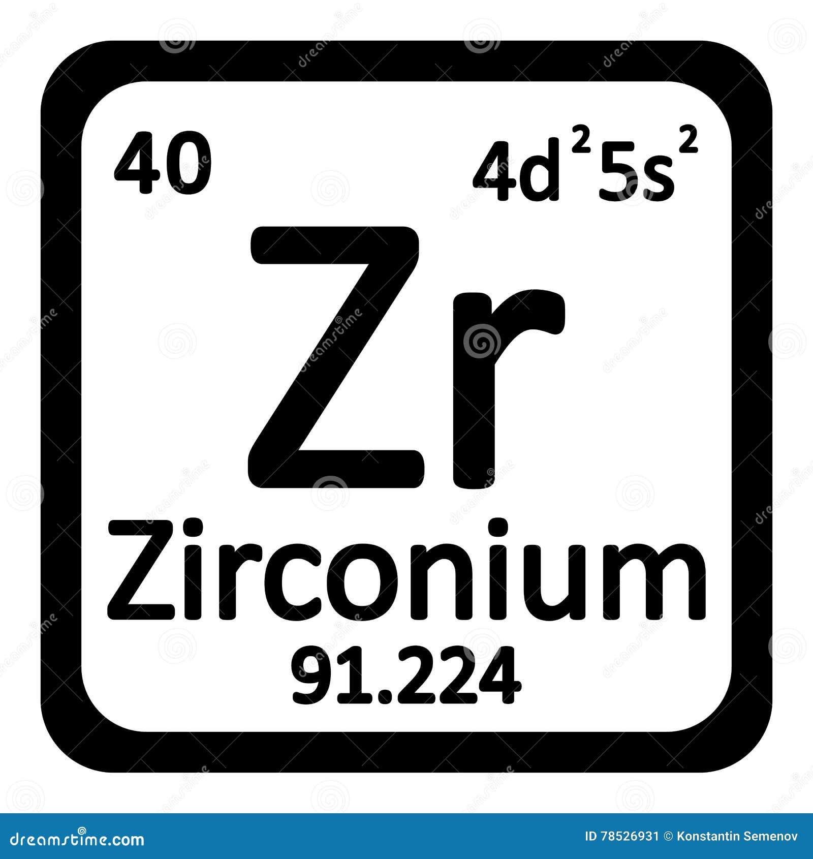 Periodic table element zirconium icon stock illustration periodic table element zirconium icon urtaz Gallery