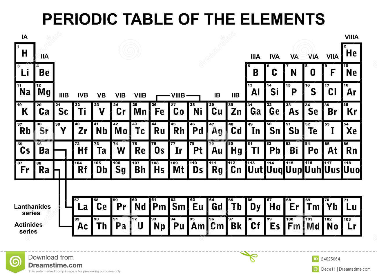 Periodic Table Of The Elements Stock Images - Image: 24025664