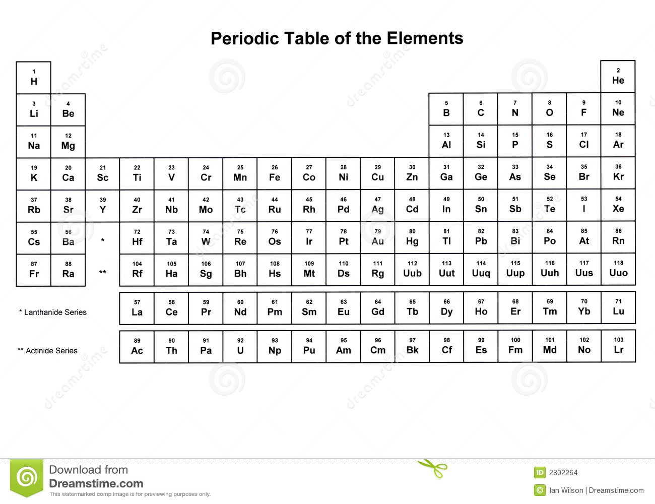 Periodic Table Of The Elements Stock Images - Image: 2802264