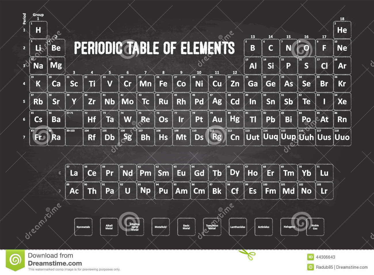 Periodic table of elements stock vector image of class 44306643 royalty free vector download periodic table gamestrikefo Images