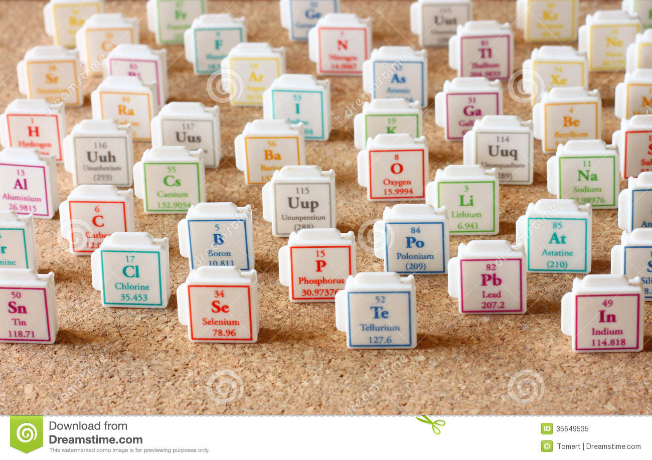 Periodic table of elements selective focus science education royalty free stock photo urtaz Images