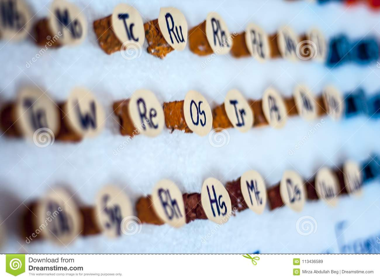 A Periodic Table Stock Image Image Of Atomic Chemistry 113436589
