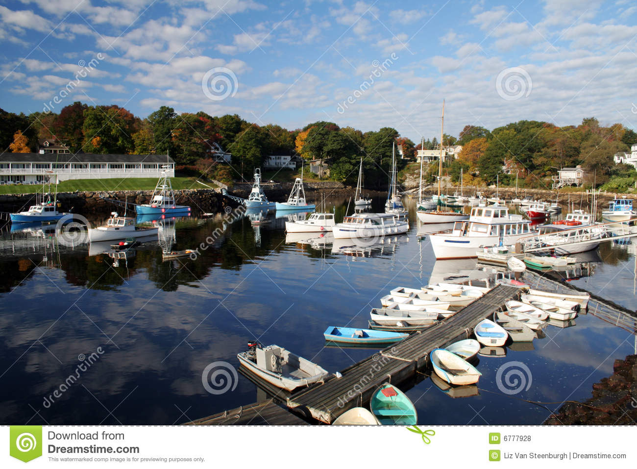Perkins Cove Harbor Royalty Free Stock Photos Image 6777928