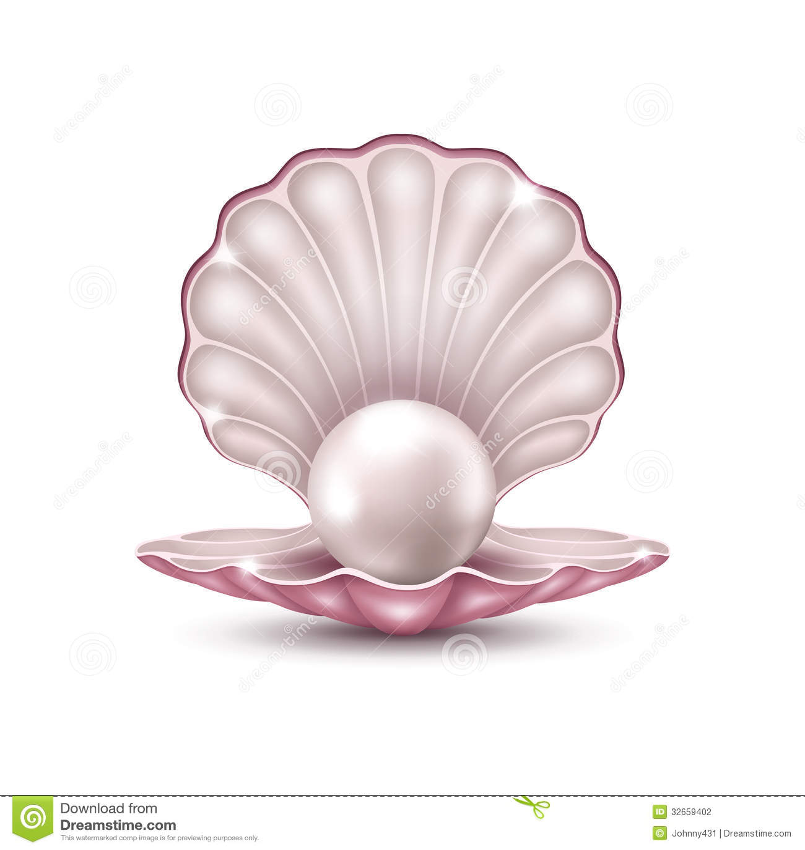 Perle dans la coquille