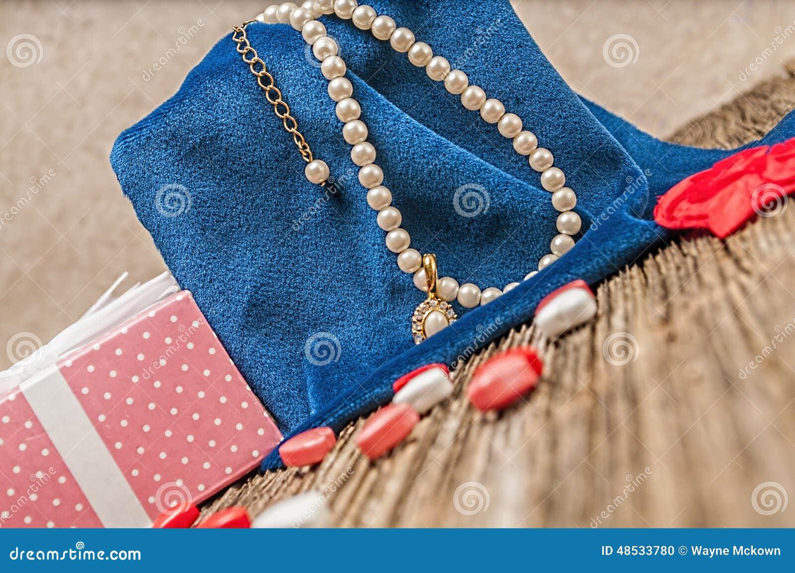 Perle de jour de valentines, diamant, necklase, cadeau