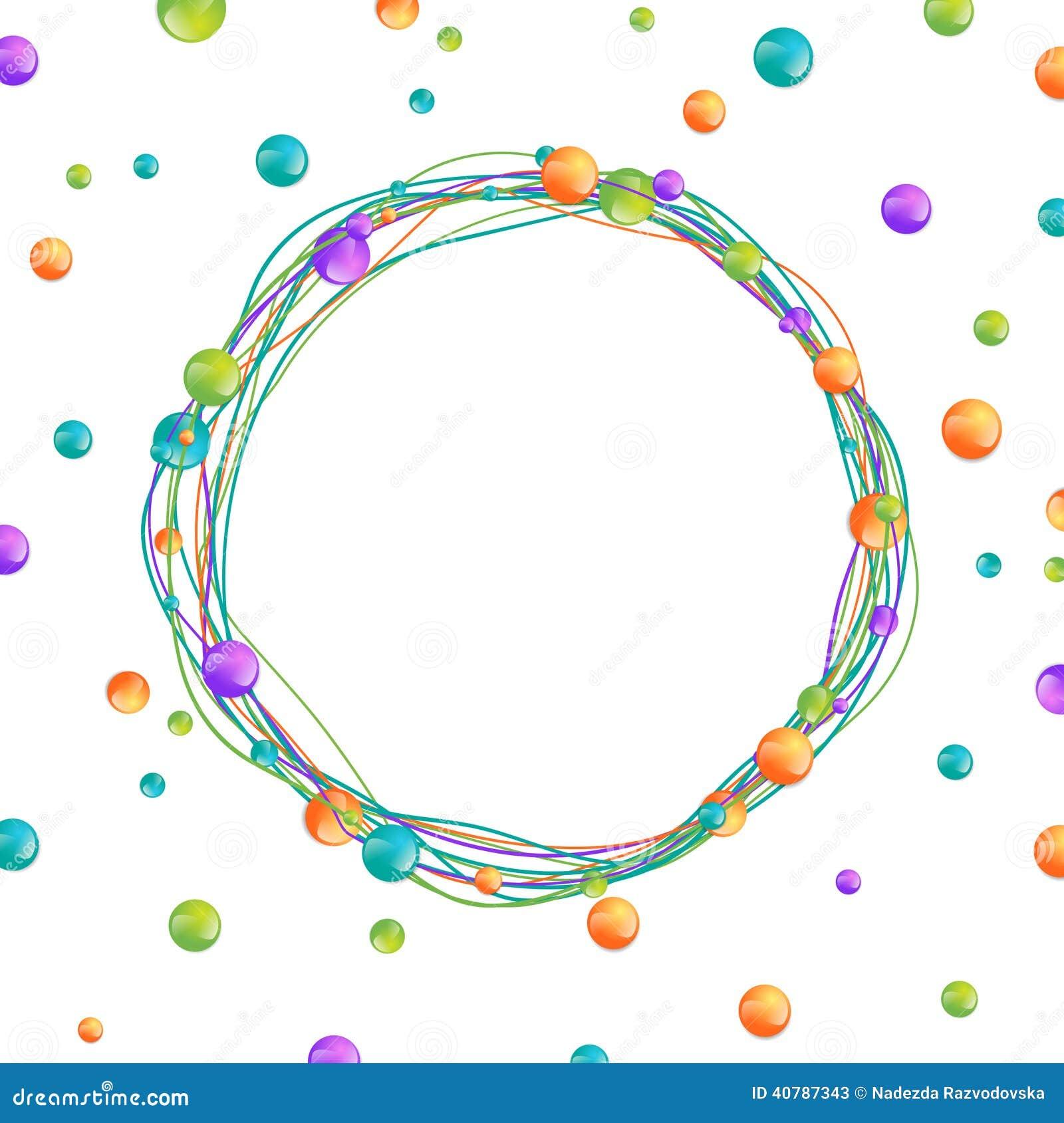 Perlen-Rahmen vektor abbildung. Illustration von farbe - 40787343