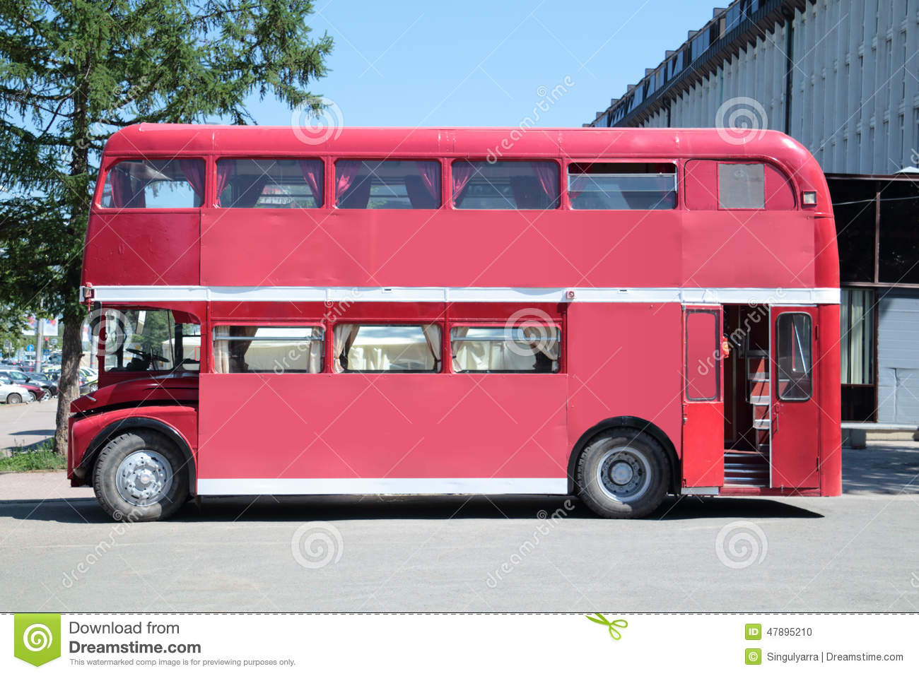 Perm Russia Jun 11 2013 Old Double Decker Bus With