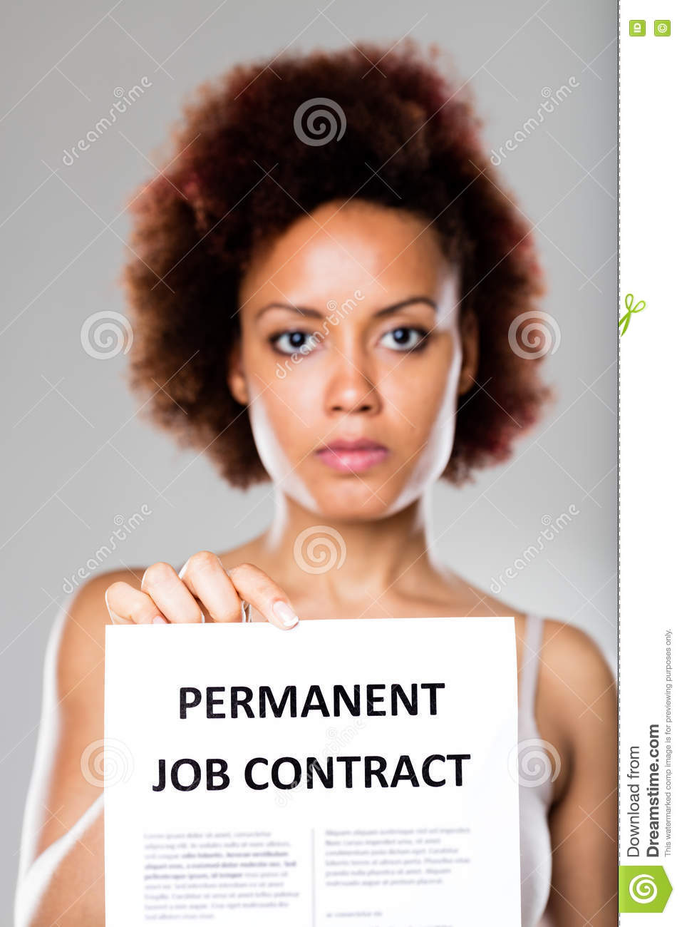 permanent job contract is not for everyone stock photo - image