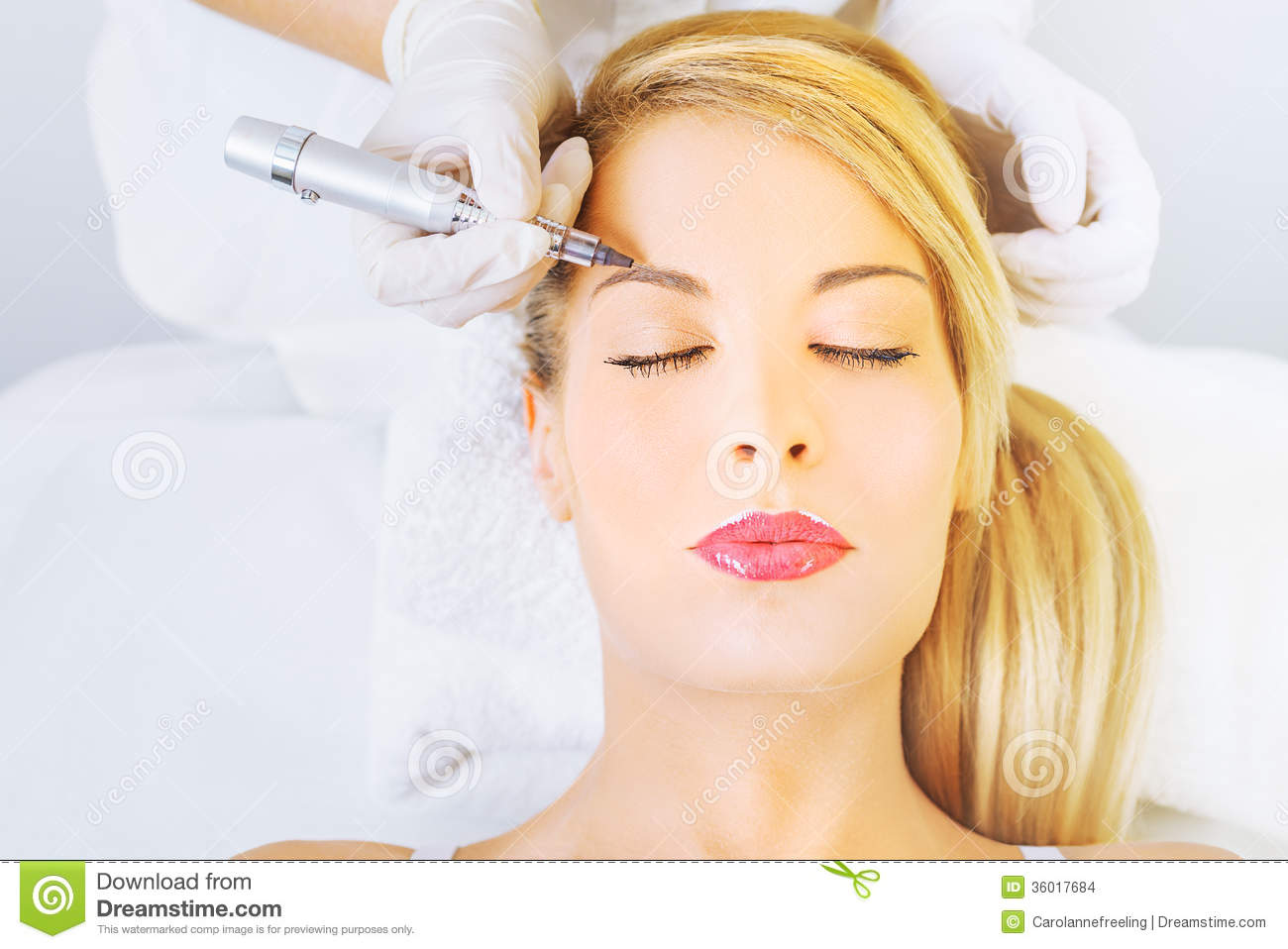 Permanent Make Up On Eyebrows Stock Images Image 36017684