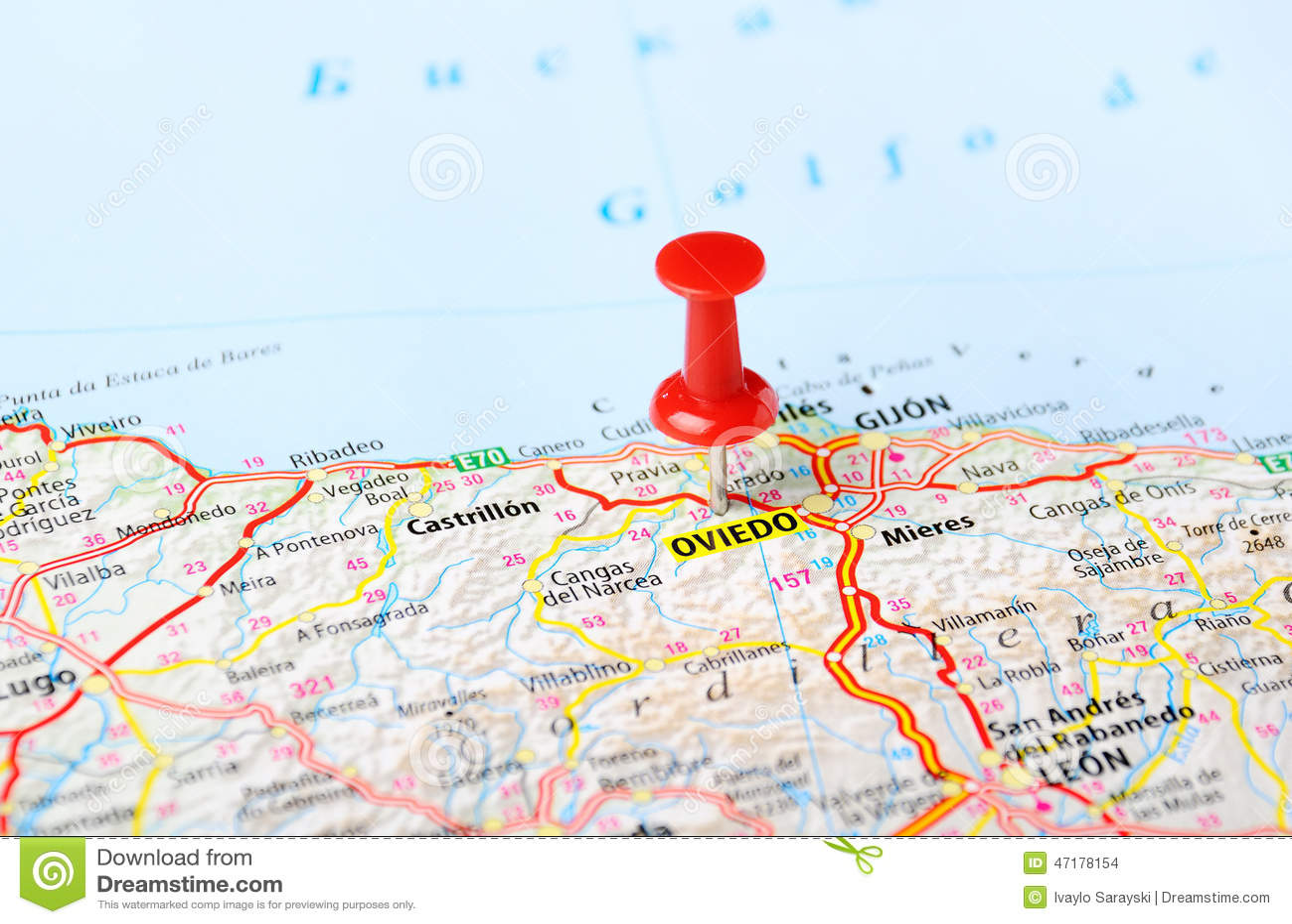 oviedo espanha mapa Perno Del Mapa De Oviedo, España Foto de archivo   Imagen de  oviedo espanha mapa