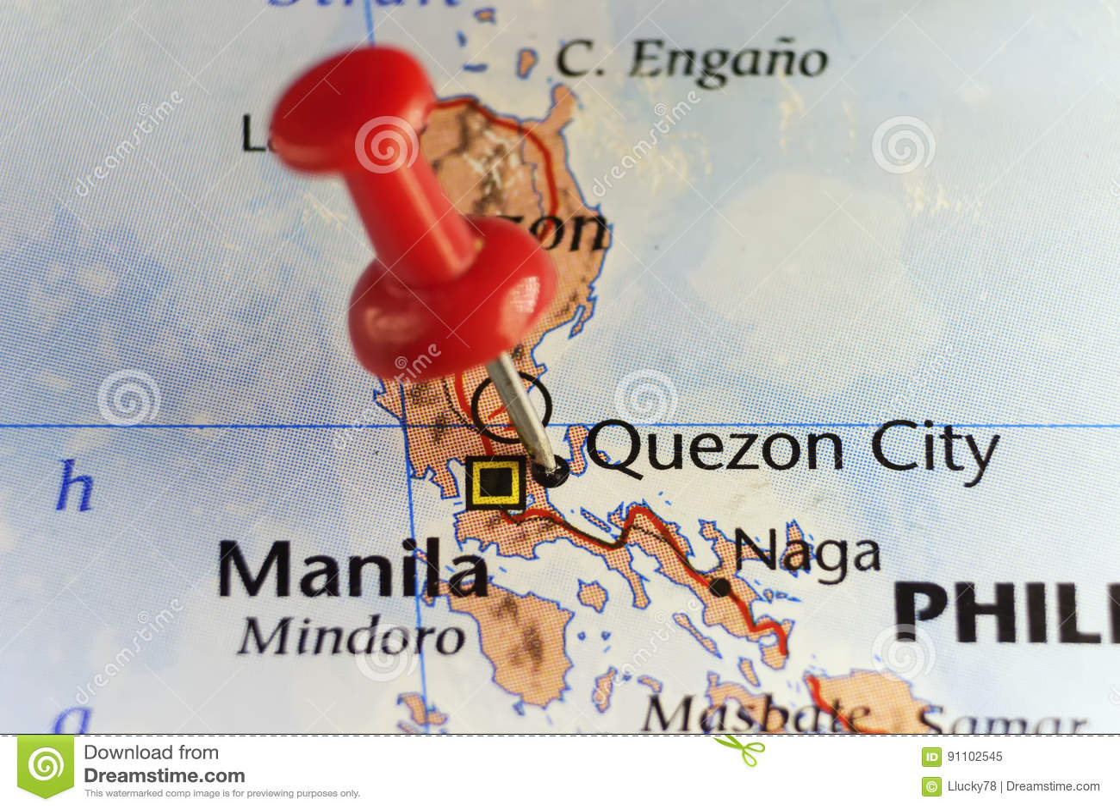 Perno rojo en Ciudad Quezon, Filipinas