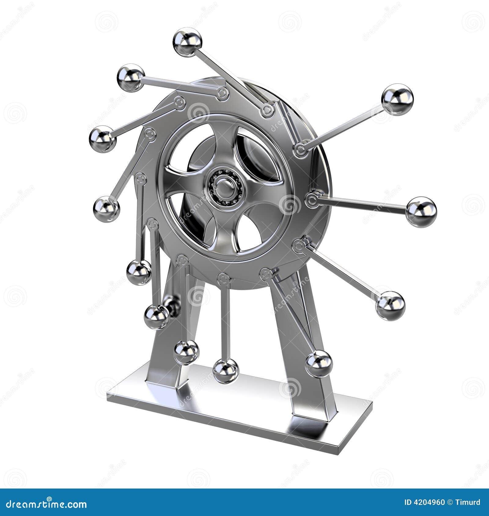 Perpetuum mobile, pendulum stock illustration ...