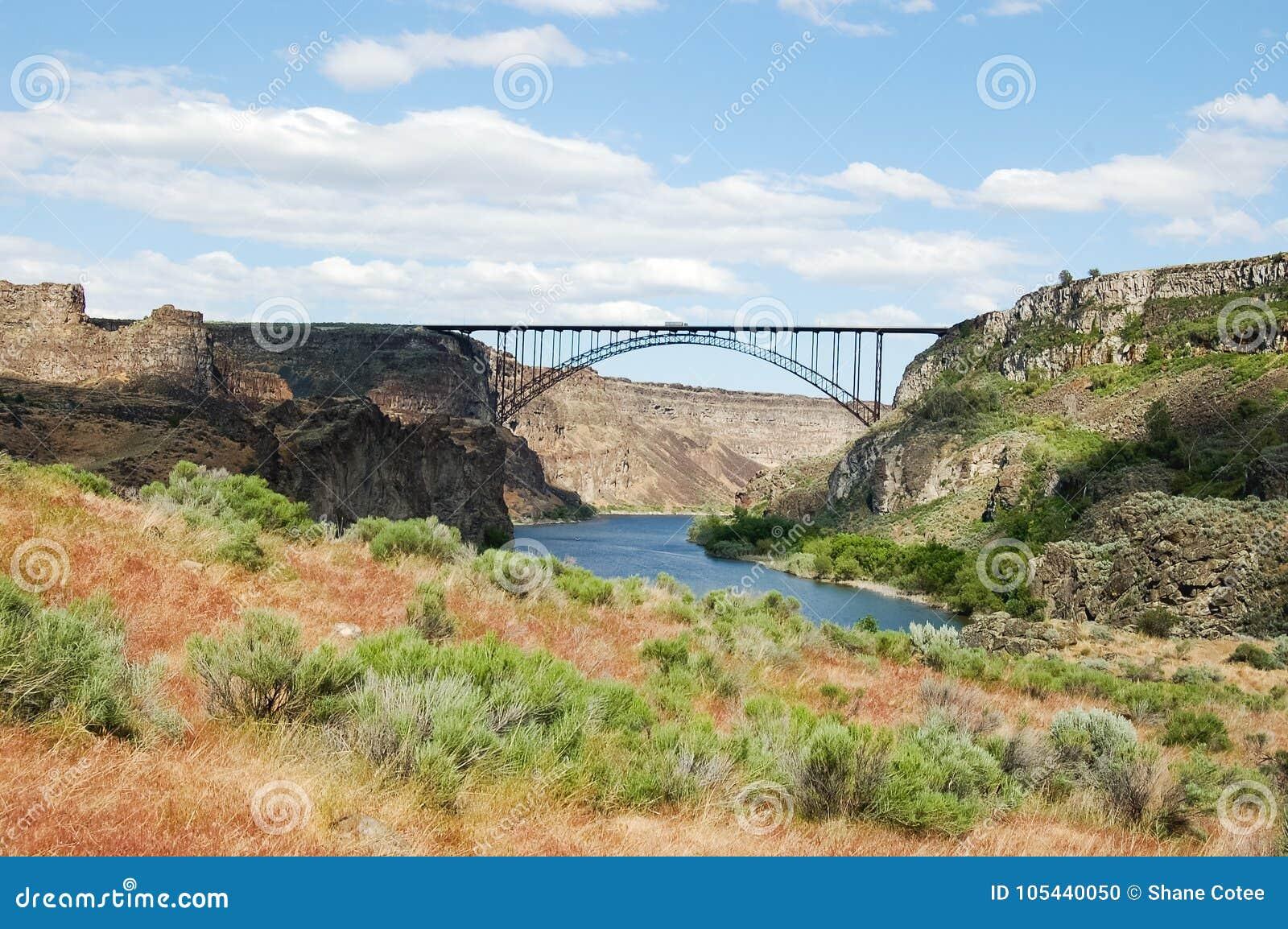 Perrine Bridge Over Snake River Stock Photo Image Of Architecture
