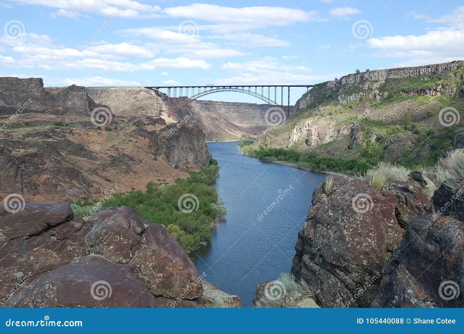 Perrine Bridge Over Snake River Stock Photo Image Of Summer