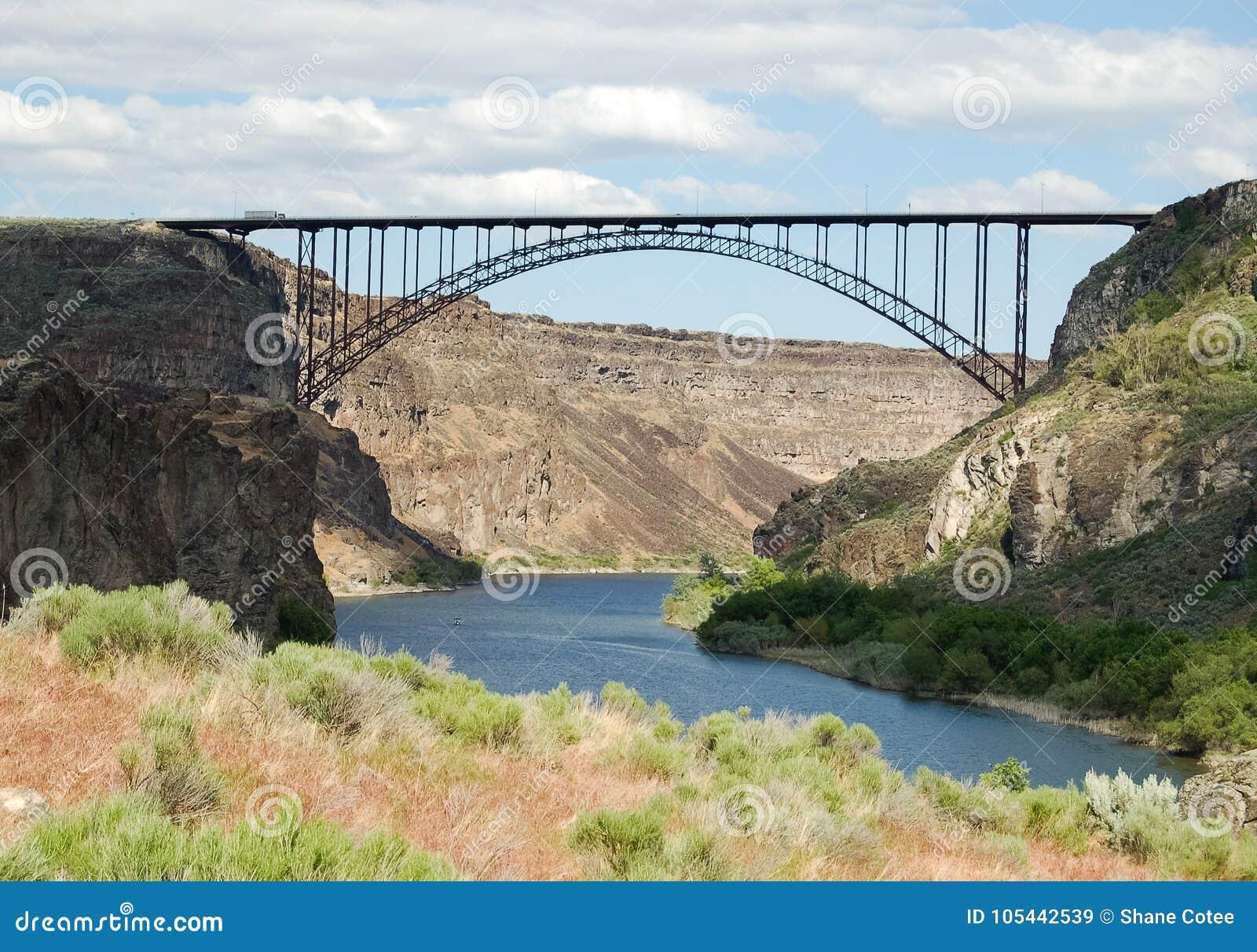 Perrine Bridge Over Snake River Stock Image Image Of West River