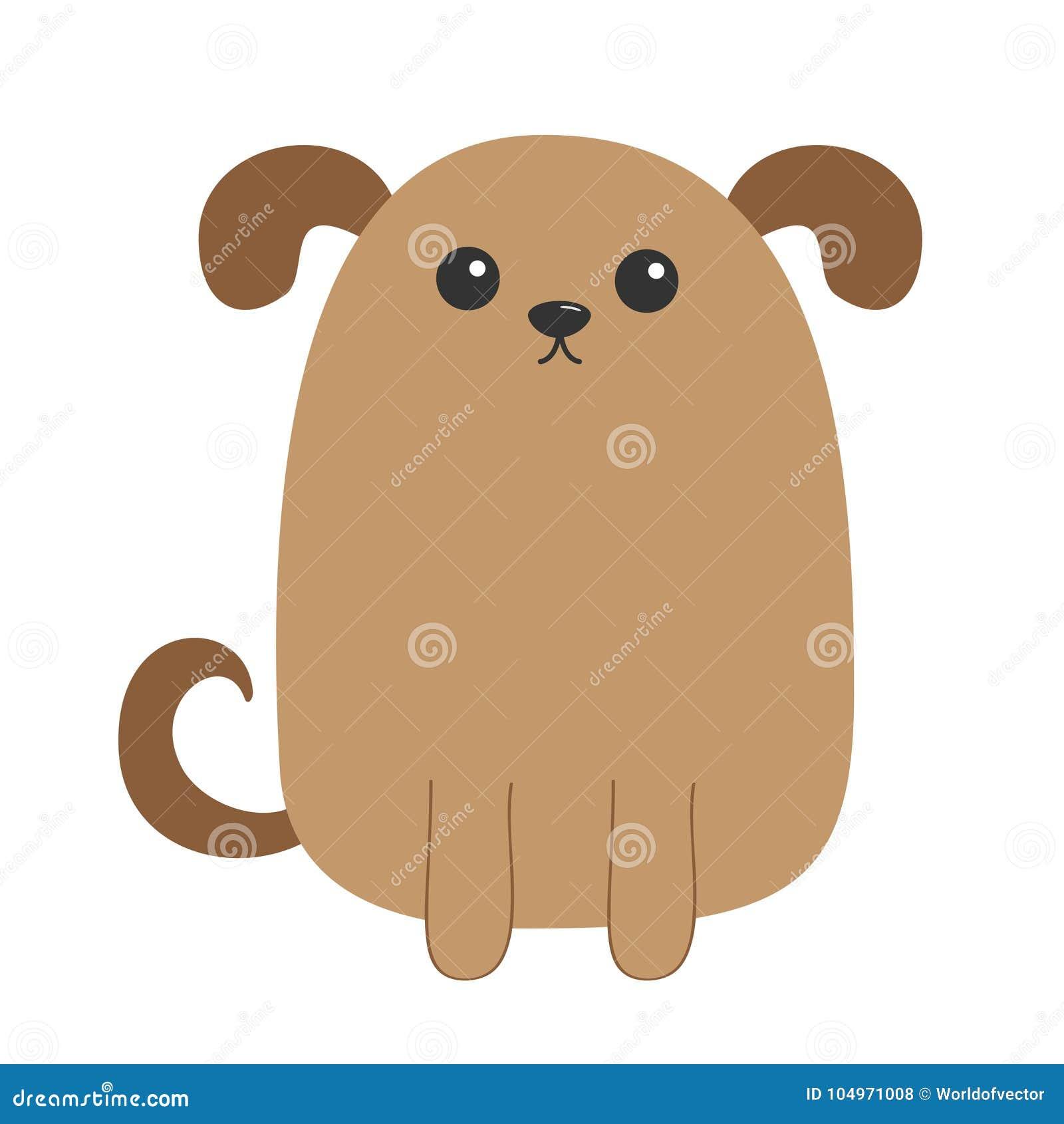 Perrito Del Perro Personaje De Dibujos Animados Lindo Cabeza