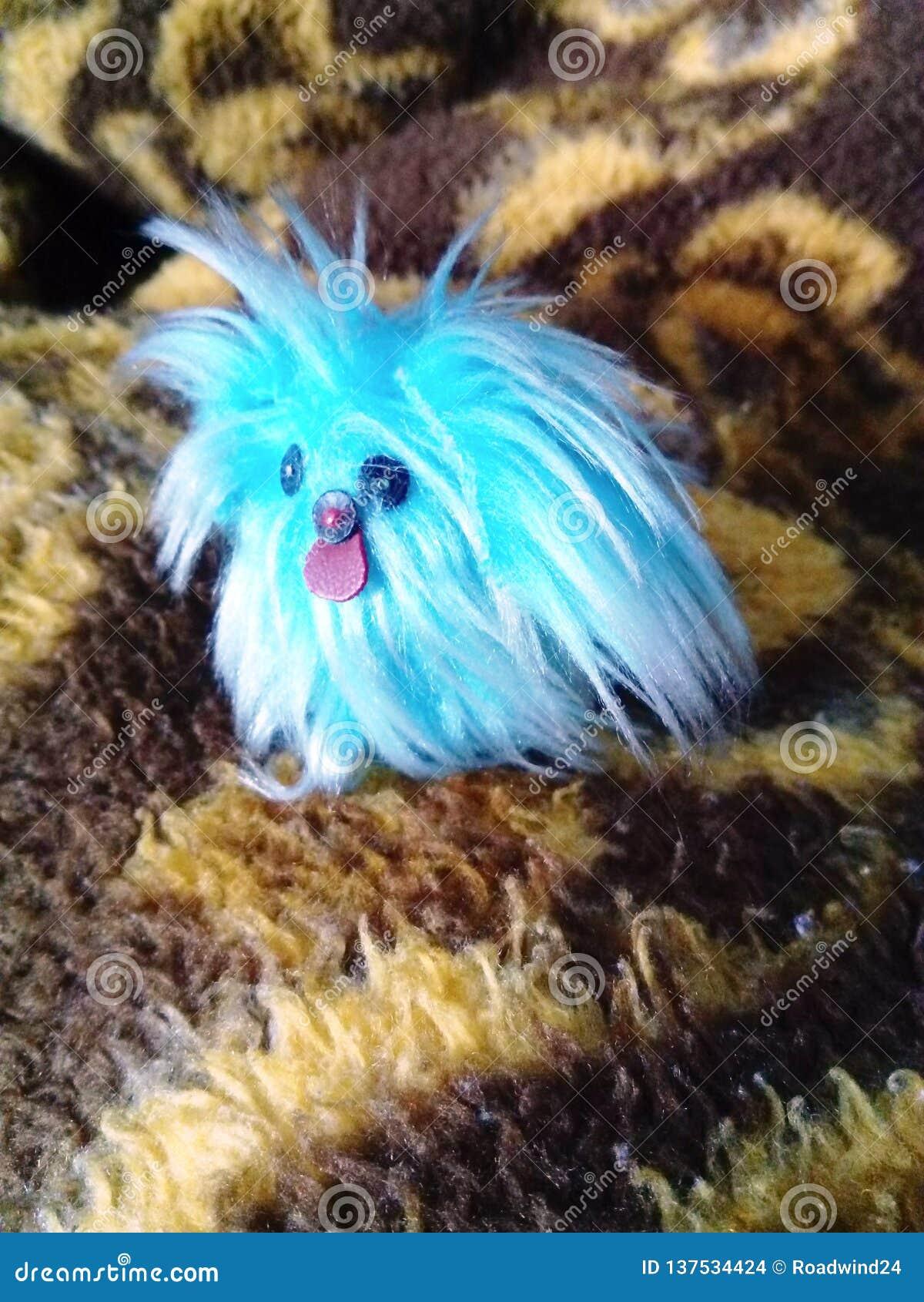 Perro de juguete pekingese minúsculo lindo