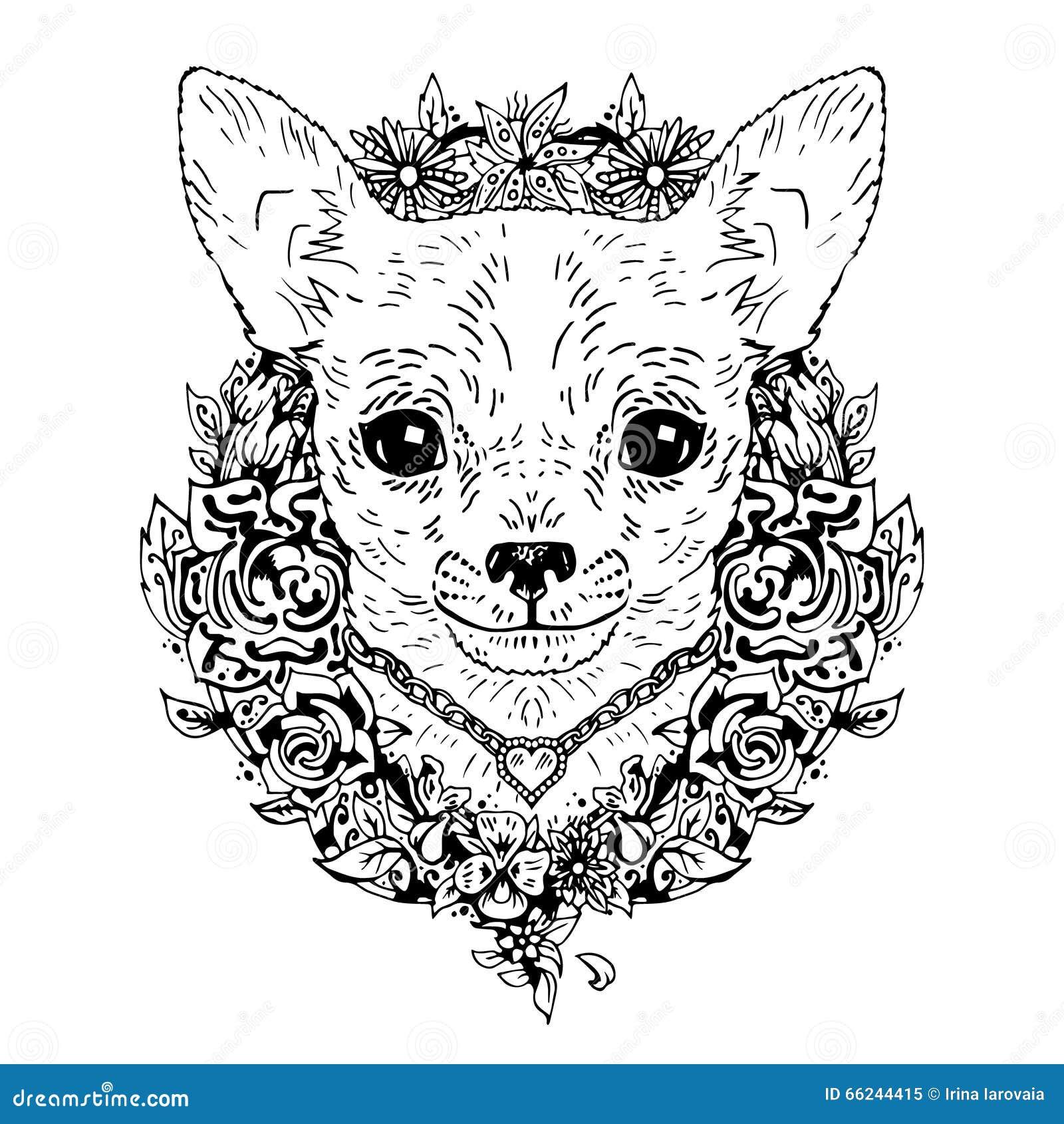 Perro Gráfico De La Chihuahua, Ejemplo Abstracto Del Vector ...