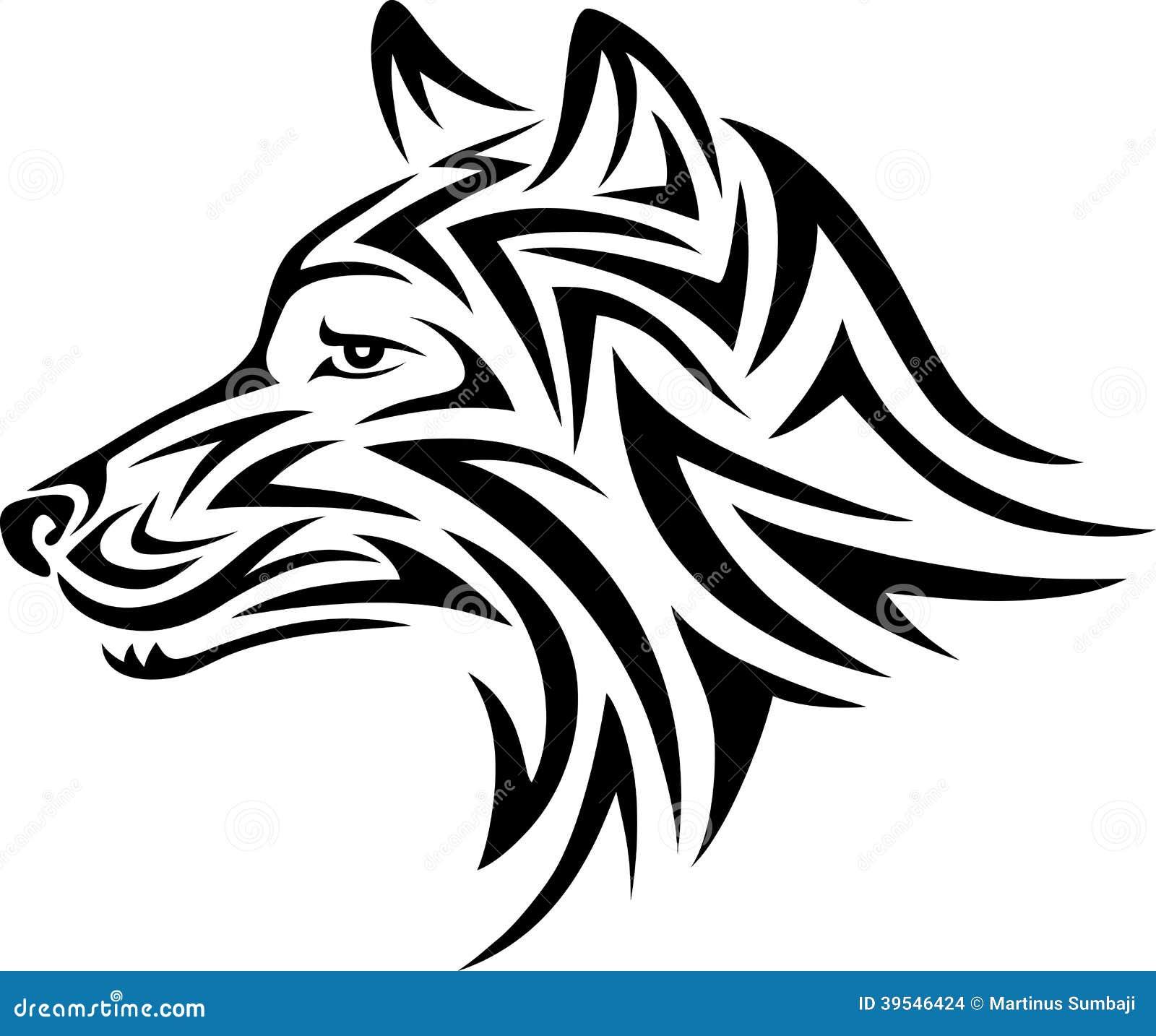 Perro Tribal Ilustración Del Vector Ilustración De Adornado 39546424