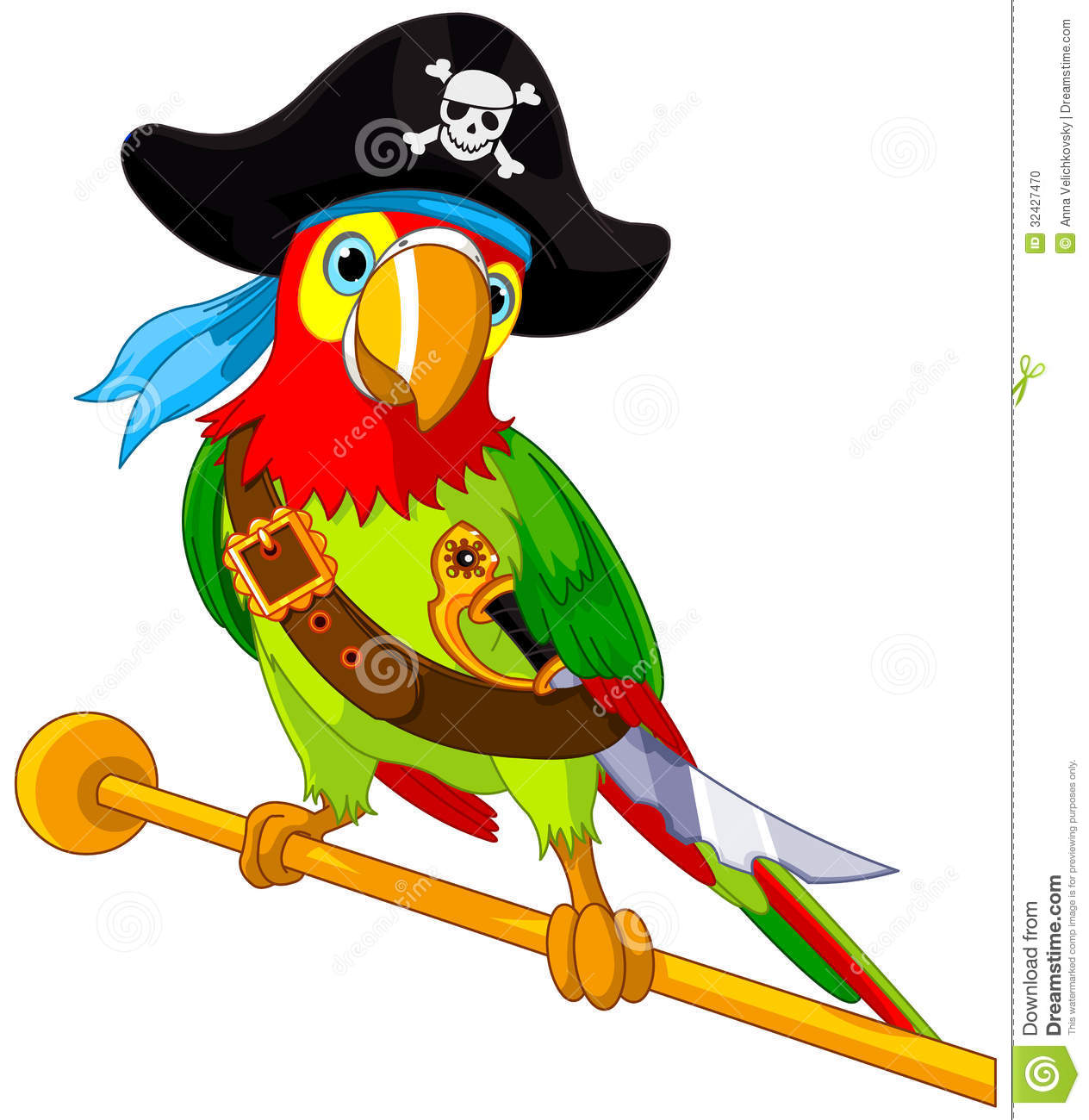 perroquet de pirate
